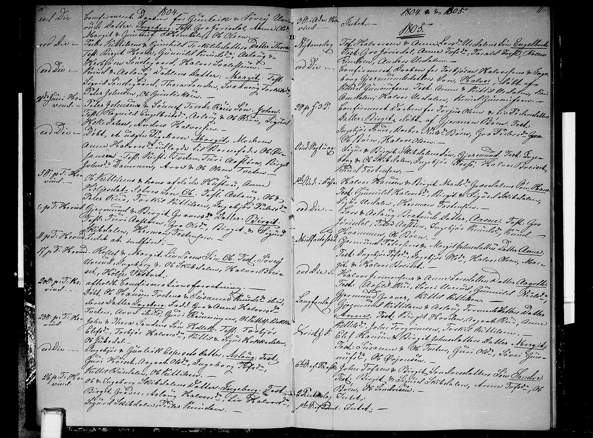 SAKO, Gransherad kirkebøker, F/Fb/L0001: Ministerialbok nr. II 1, 1800-1814, s. 10-11
