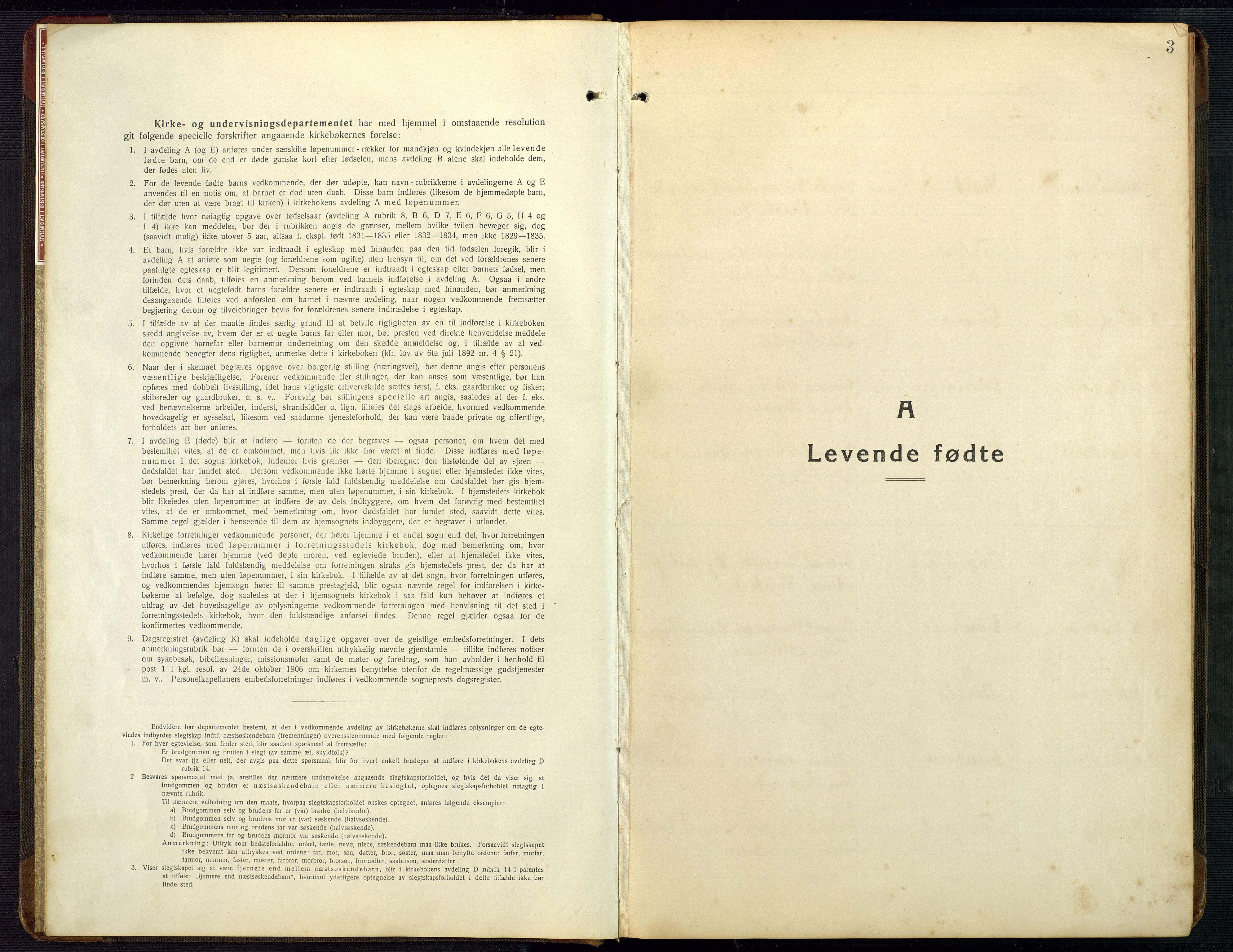 SAK, Bygland sokneprestkontor, F/Fb/Fba/L0003: Klokkerbok nr. B 3, 1920-1974, s. 3