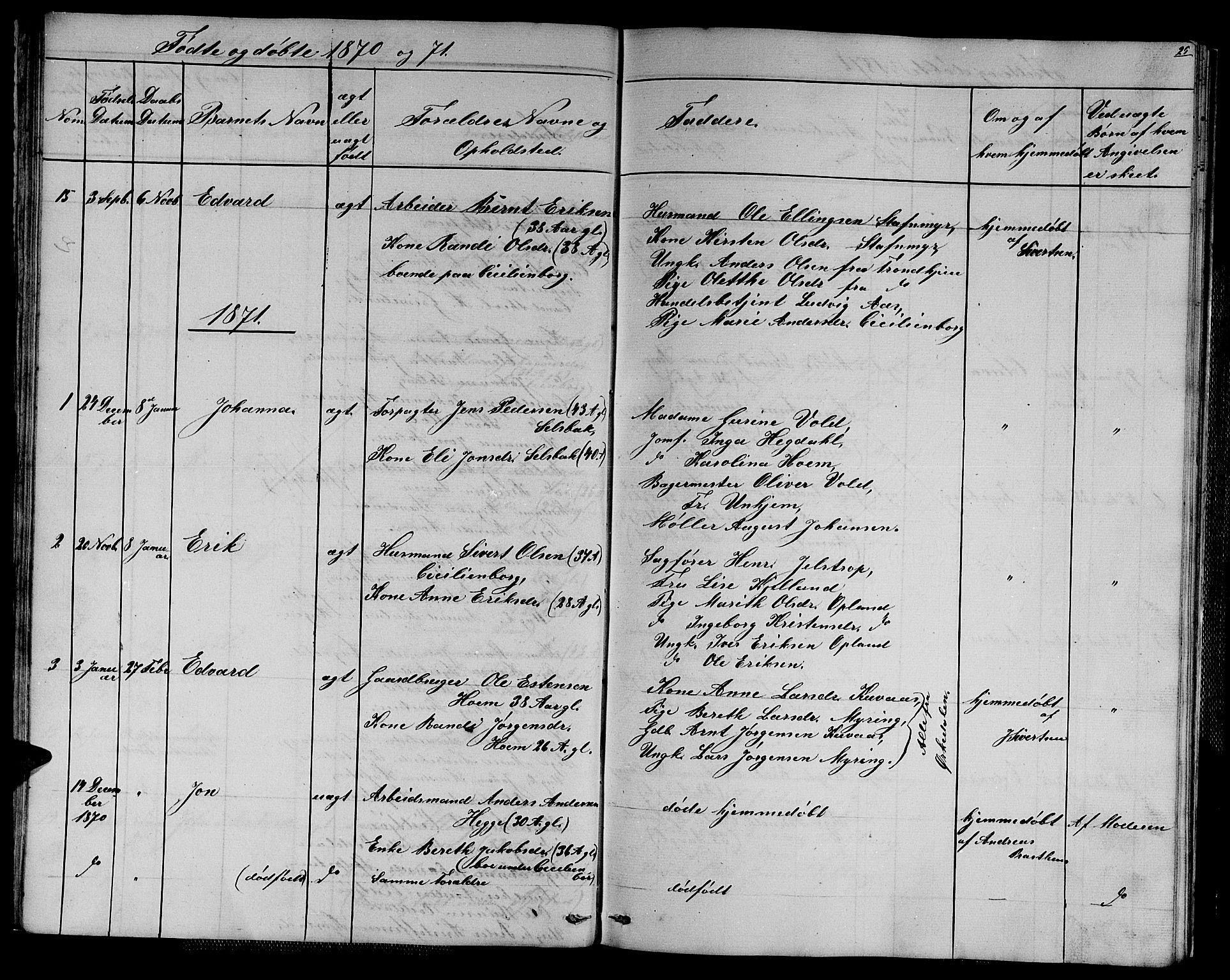 SAT, Ministerialprotokoller, klokkerbøker og fødselsregistre - Sør-Trøndelag, 611/L0353: Klokkerbok nr. 611C01, 1854-1881, s. 25