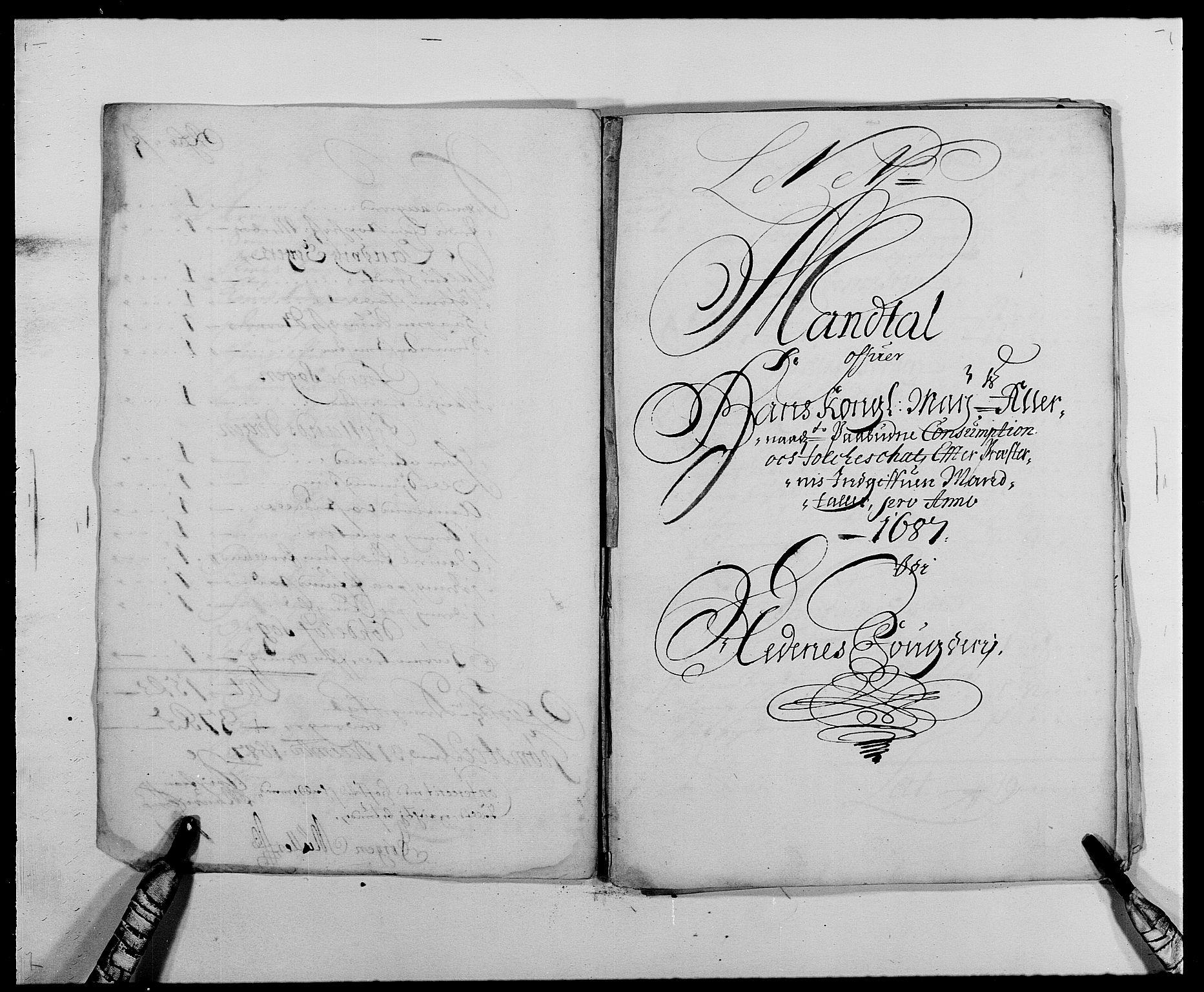 RA, Rentekammeret inntil 1814, Reviderte regnskaper, Fogderegnskap, R39/L2309: Fogderegnskap Nedenes, 1684-1689, s. 103