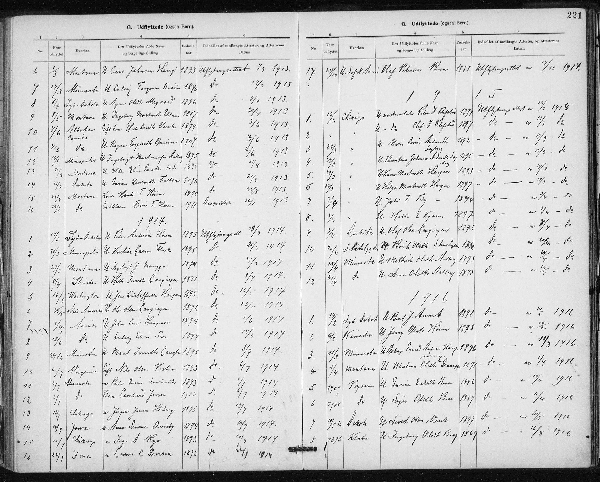 SAT, Ministerialprotokoller, klokkerbøker og fødselsregistre - Sør-Trøndelag, 612/L0381: Ministerialbok nr. 612A13, 1907-1923, s. 221