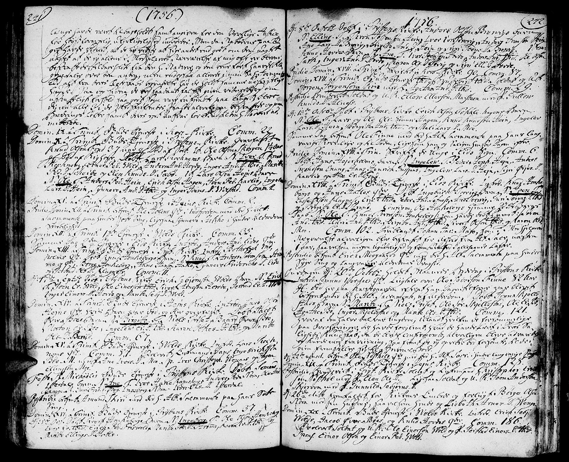 SAT, Ministerialprotokoller, klokkerbøker og fødselsregistre - Møre og Romsdal, 544/L0568: Ministerialbok nr. 544A01, 1725-1763, s. 241-242