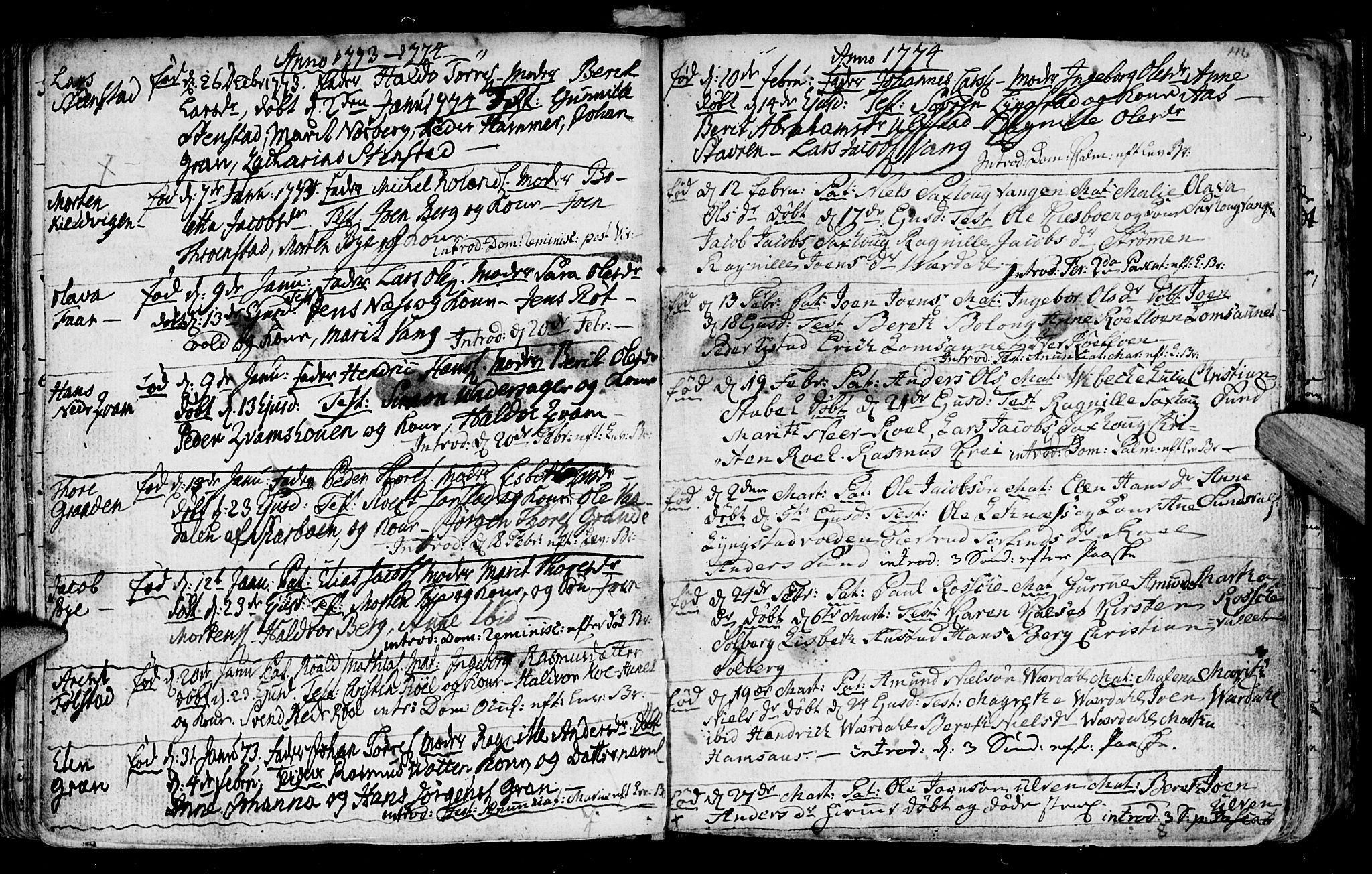 SAT, Ministerialprotokoller, klokkerbøker og fødselsregistre - Nord-Trøndelag, 730/L0273: Ministerialbok nr. 730A02, 1762-1802, s. 116