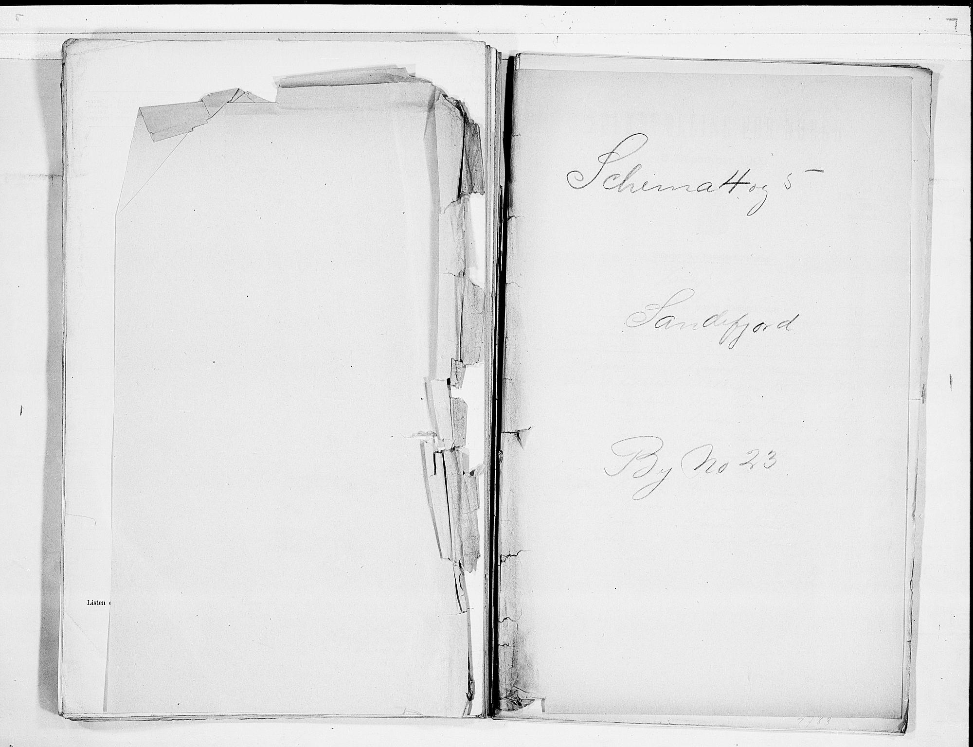 RA, Folketelling 1900 for 0706 Sandefjord kjøpstad, 1900, s. 1
