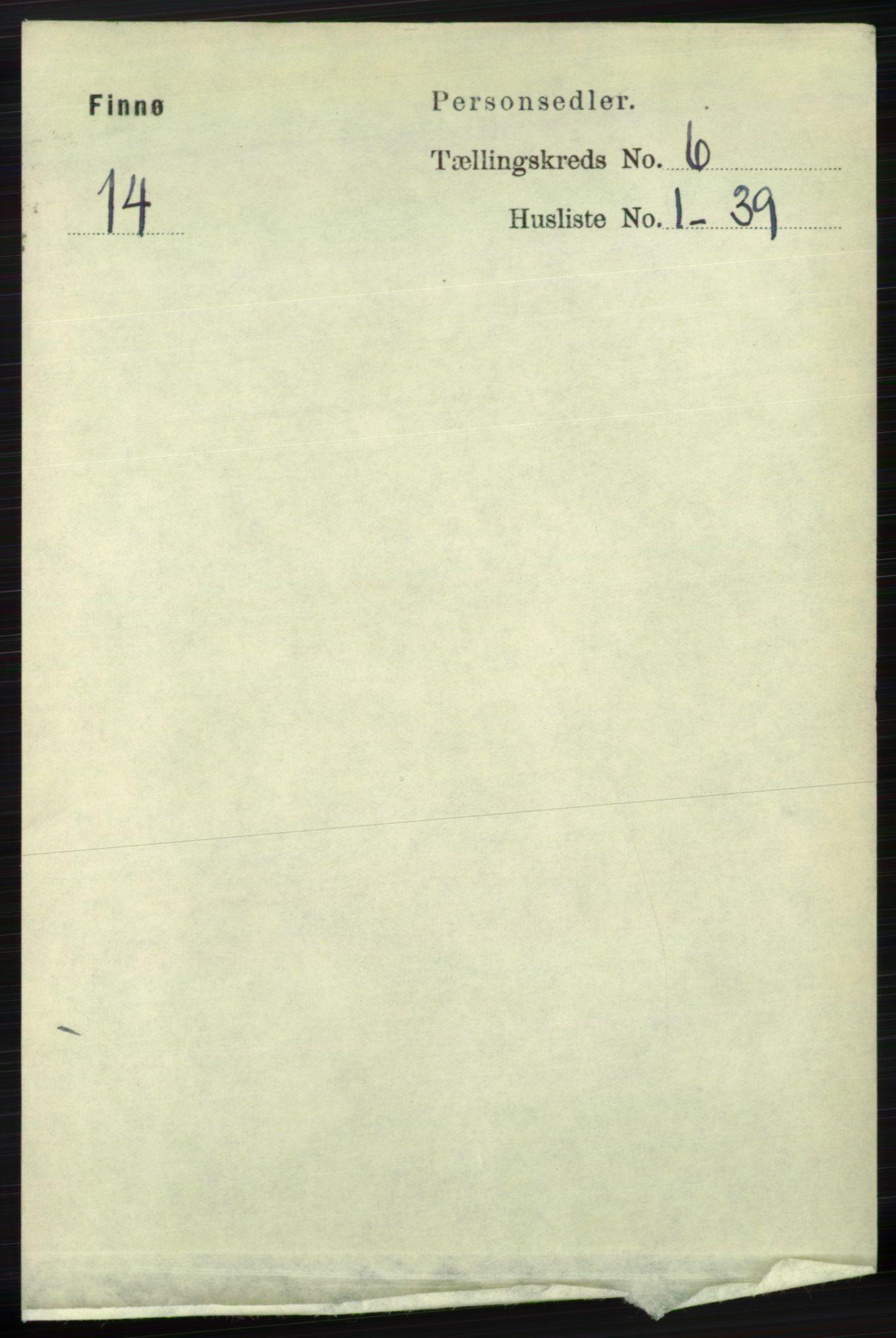 RA, Folketelling 1891 for 1141 Finnøy herred, 1891, s. 1284