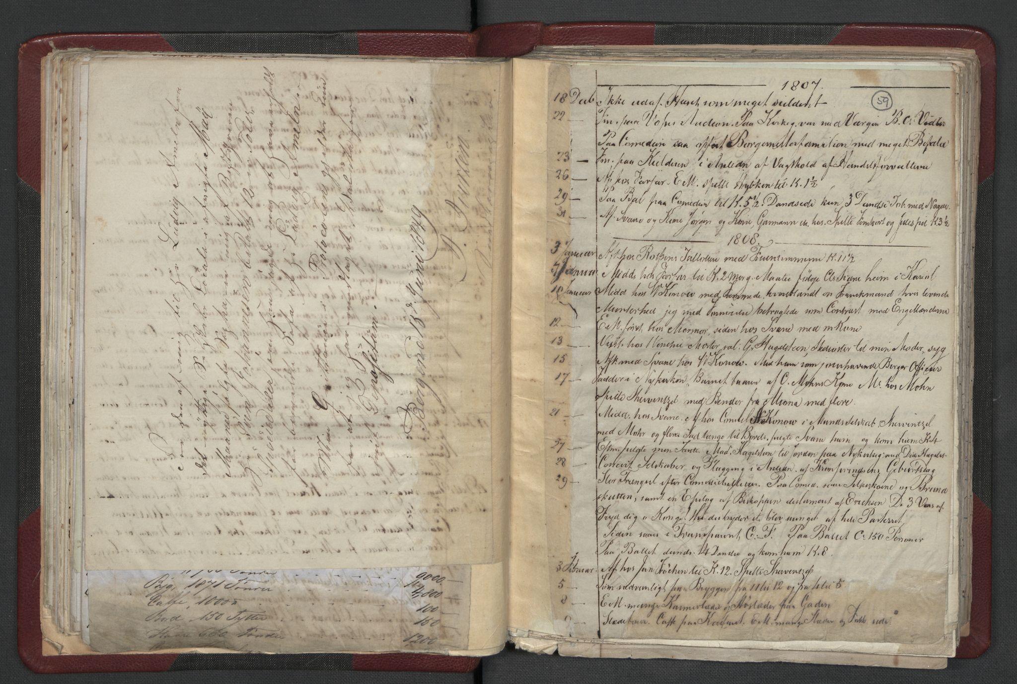RA, Meltzer, Fredrik, F/L0001: Dagbok for årene 1796-1808, 1811, 1817, 1796-1817, s. 58b-59a