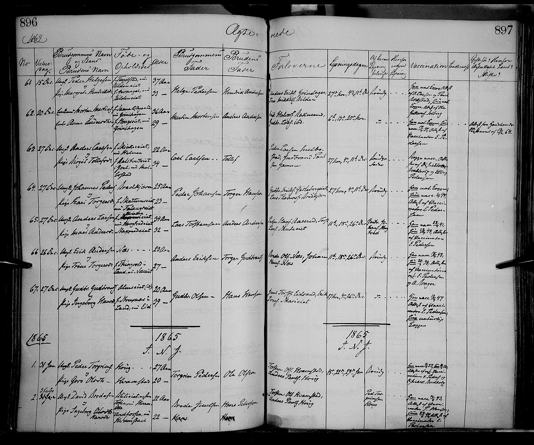 SAH, Gran prestekontor, Ministerialbok nr. 12, 1856-1874, s. 896-897