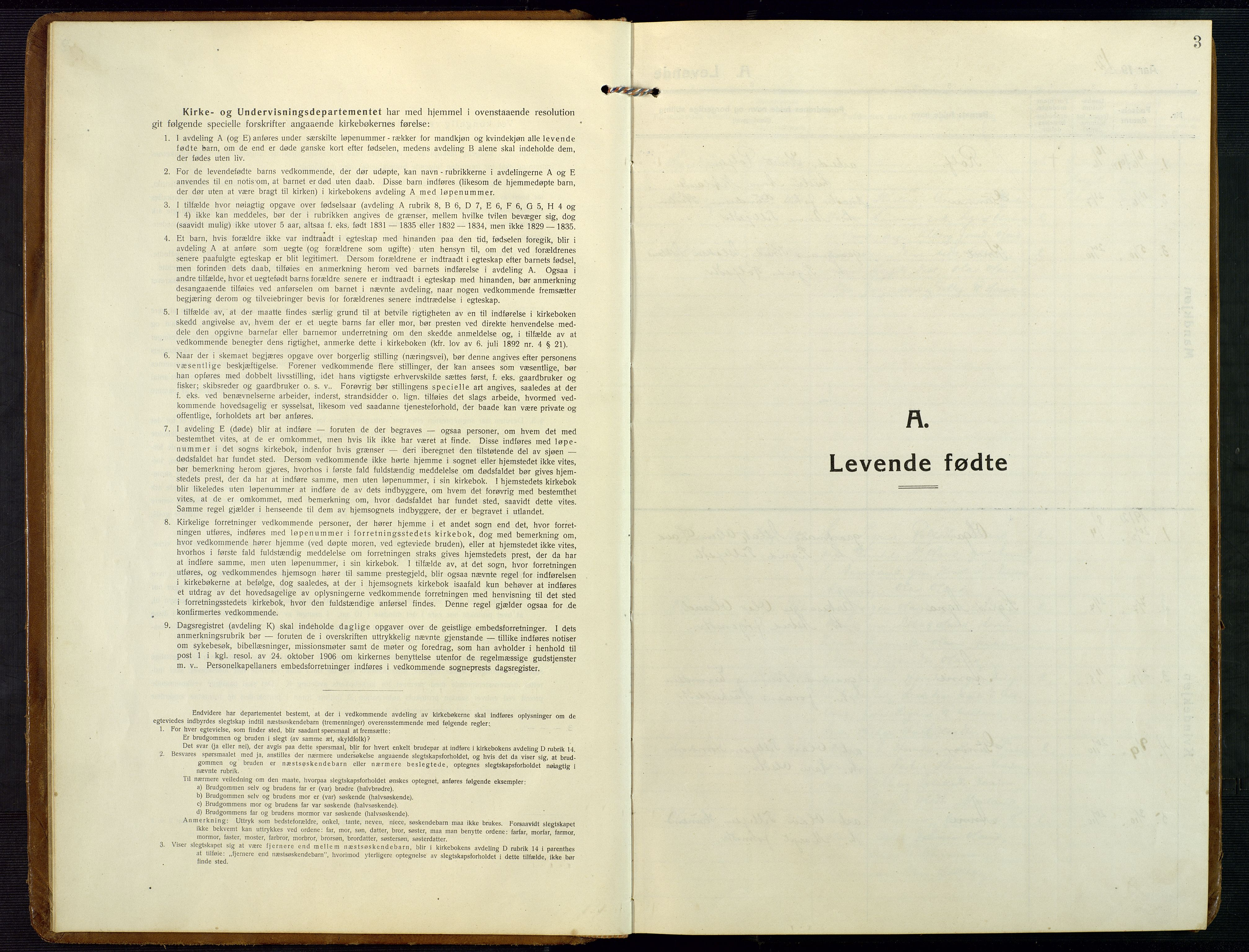 SAK, Åmli sokneprestkontor, F/Fb/Fba/L0003: Klokkerbok nr. B 3, 1912-1974, s. 3