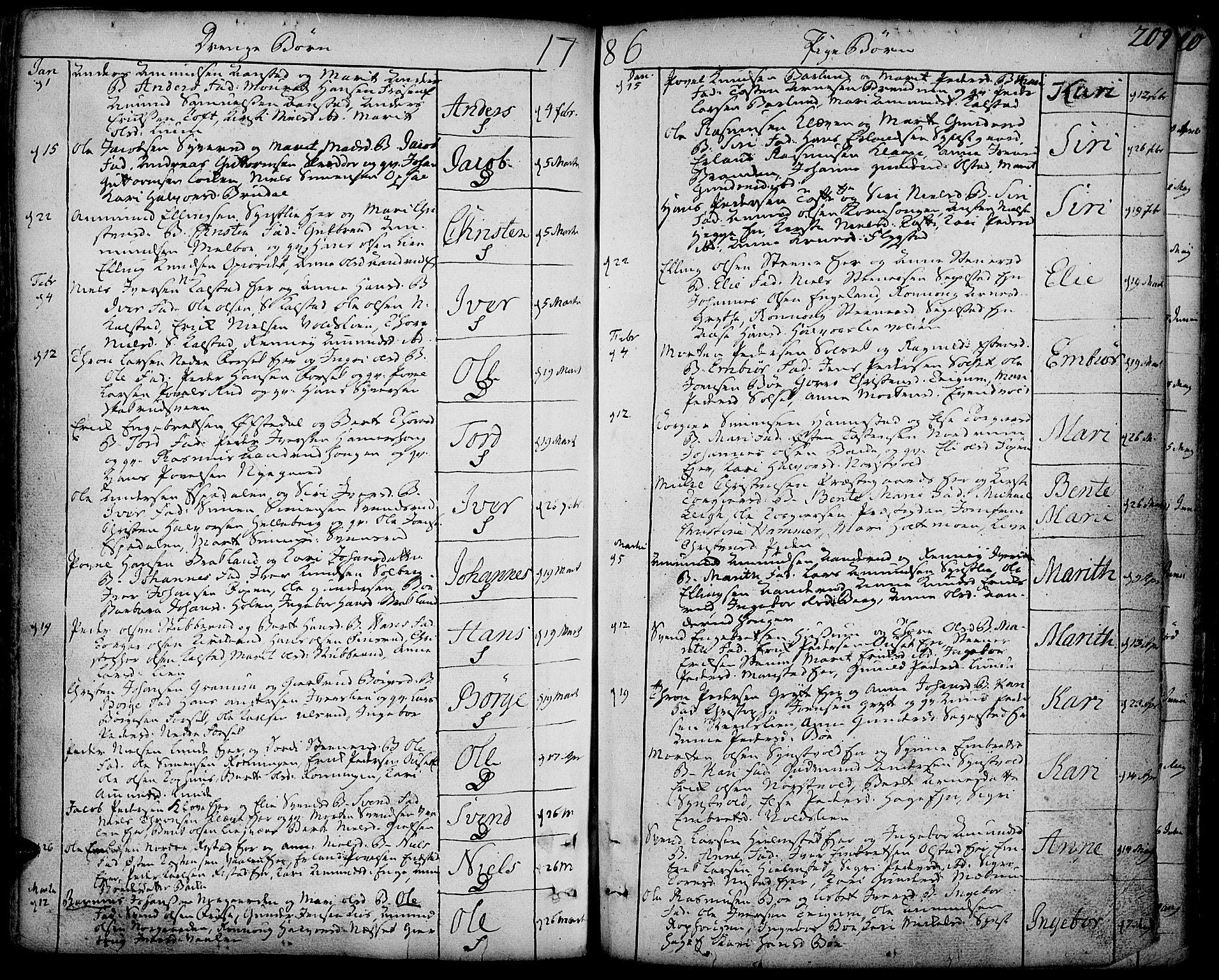 SAH, Gausdal prestekontor, Ministerialbok nr. 3, 1758-1809, s. 209