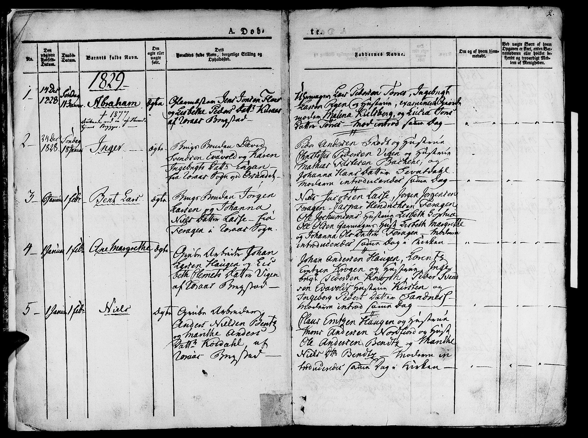 SAT, Ministerialprotokoller, klokkerbøker og fødselsregistre - Sør-Trøndelag, 681/L0930: Ministerialbok nr. 681A08, 1829-1844, s. 2