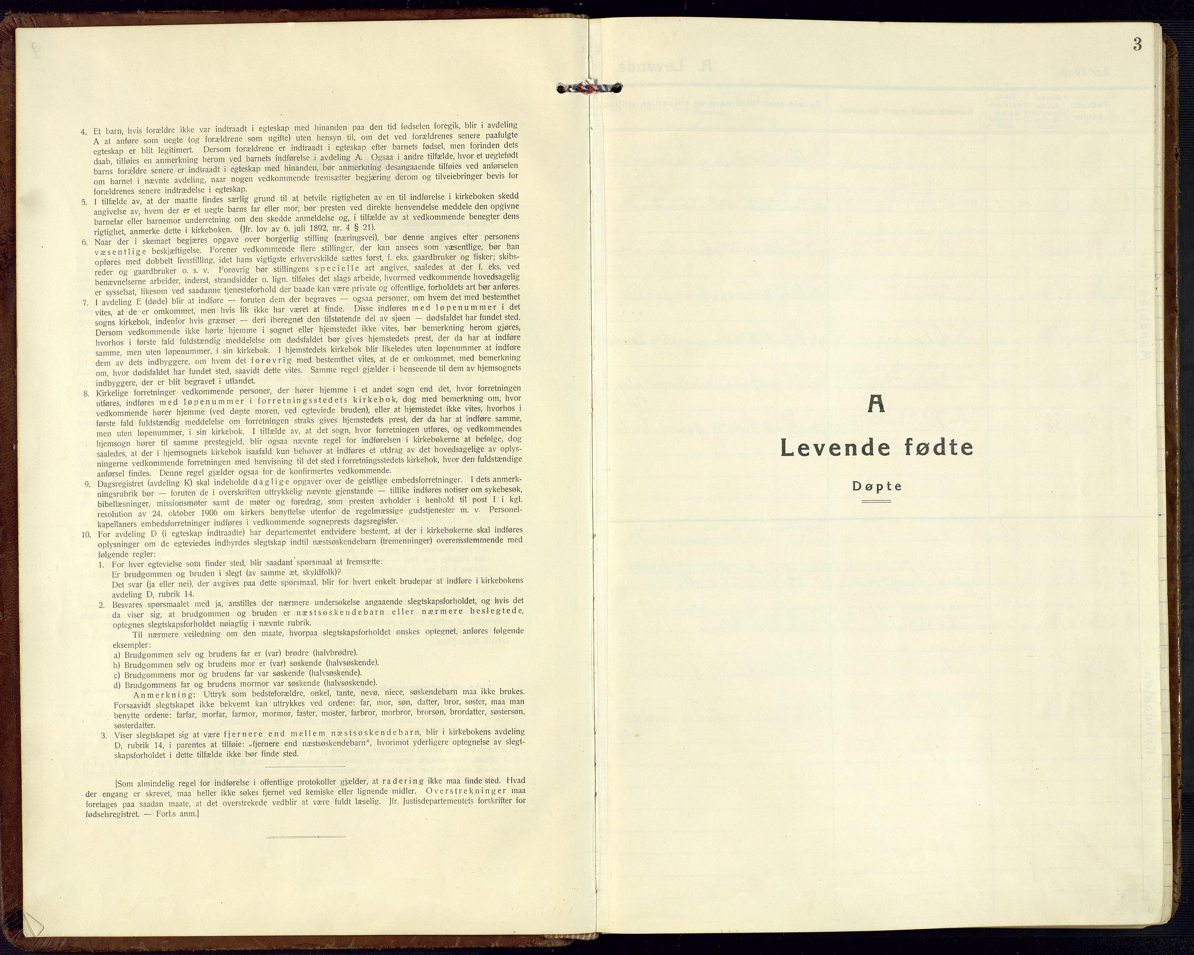 SAK, Bjelland sokneprestkontor, F/Fb/Fbc/L0004: Klokkerbok nr. B 4, 1921-1978, s. 3