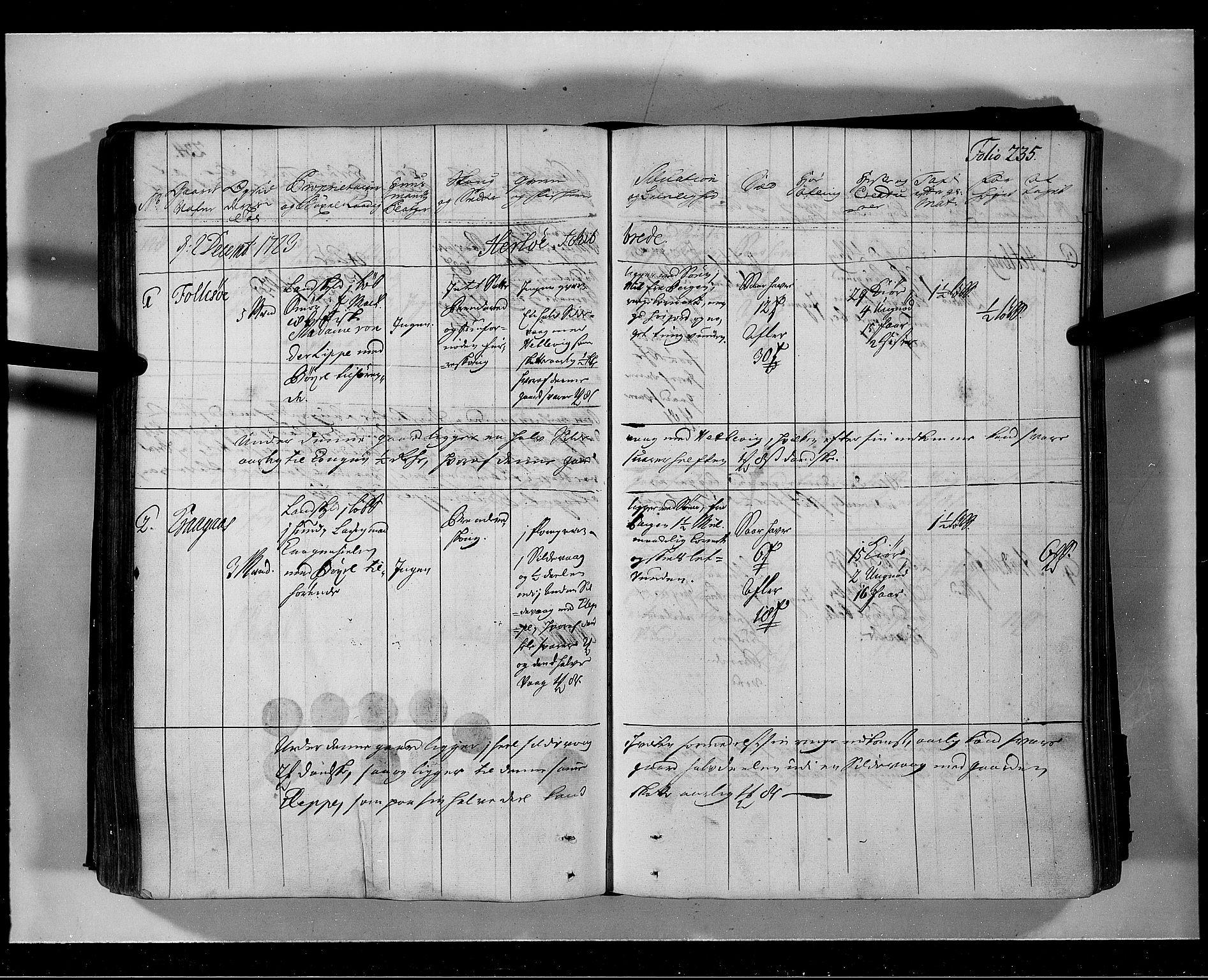 RA, Rentekammeret inntil 1814, Realistisk ordnet avdeling, N/Nb/Nbf/L0139: Nordhordland eksaminasjonsprotokoll, 1723, s. 234b-235a