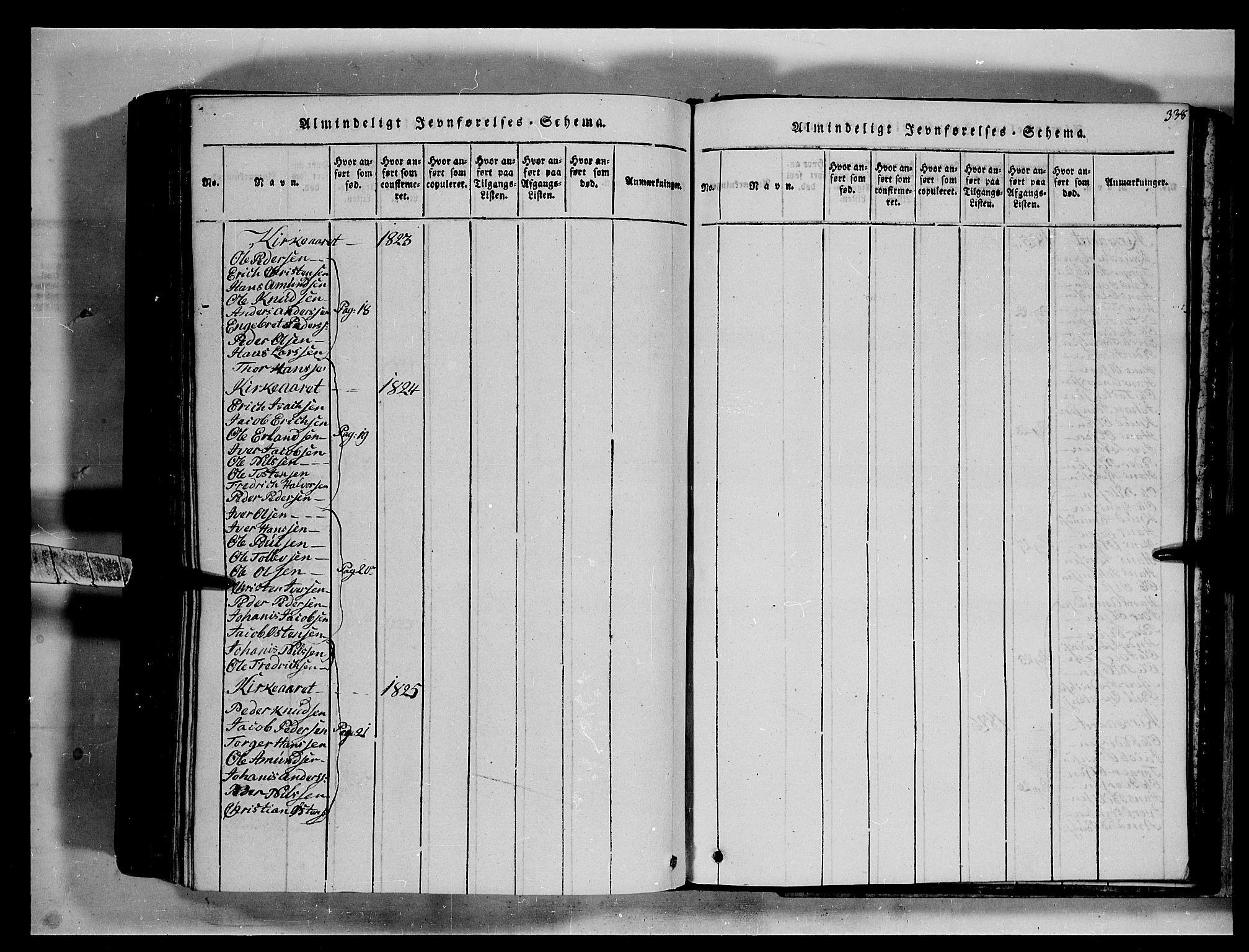SAH, Fron prestekontor, H/Ha/Hab/L0002: Klokkerbok nr. 2, 1816-1850, s. 338