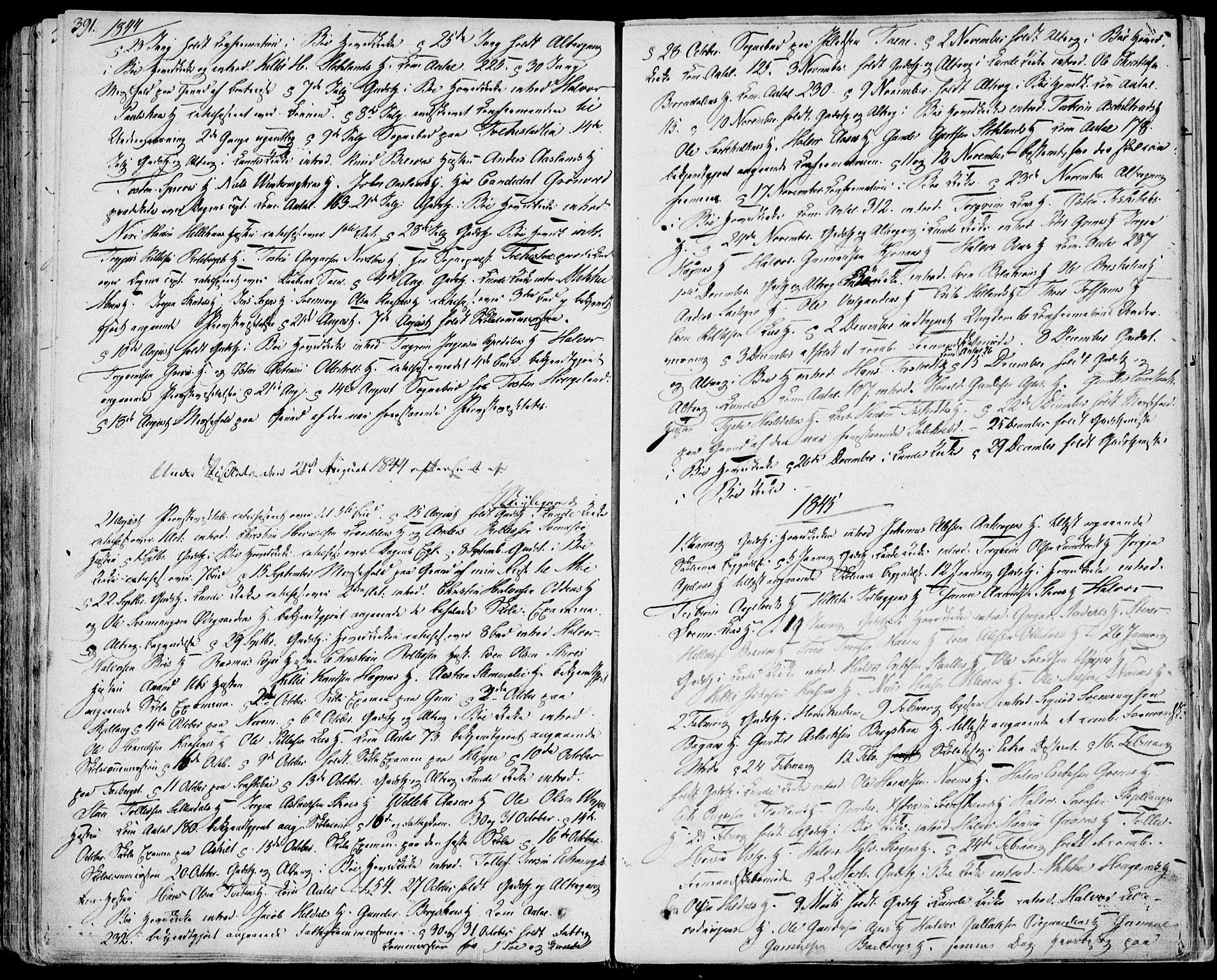 SAKO, Bø kirkebøker, F/Fa/L0007: Ministerialbok nr. 7, 1831-1848, s. 391