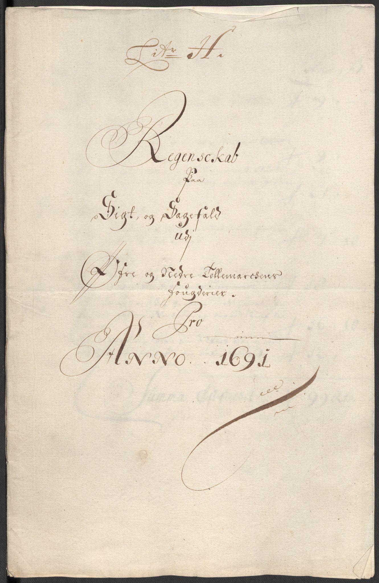 RA, Rentekammeret inntil 1814, Reviderte regnskaper, Fogderegnskap, R35/L2089: Fogderegnskap Øvre og Nedre Telemark, 1690-1692, s. 149
