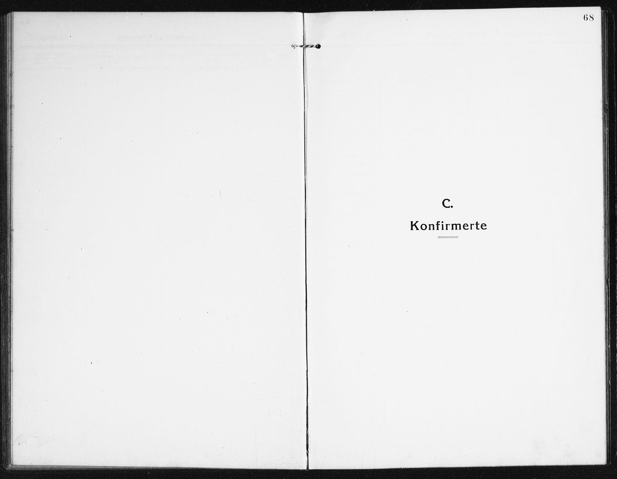 SAK, Valle sokneprestkontor, F/Fb/Fba/L0004: Klokkerbok nr. B 4, 1917-1944, s. 68