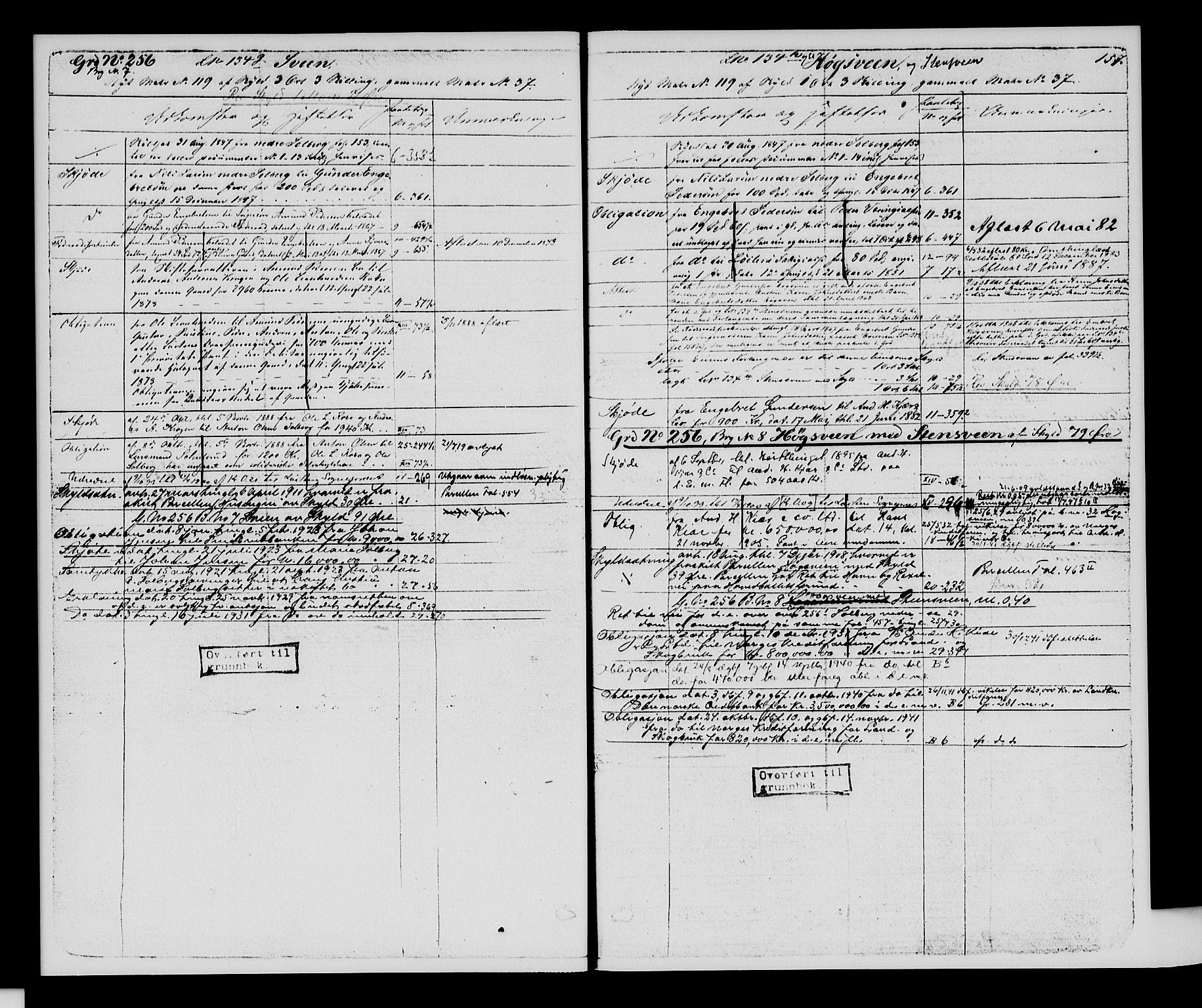SAH, Sør-Hedmark sorenskriveri, H/Ha/Hac/Hacc/L0001: Panteregister nr. 3.1, 1855-1943, s. 157