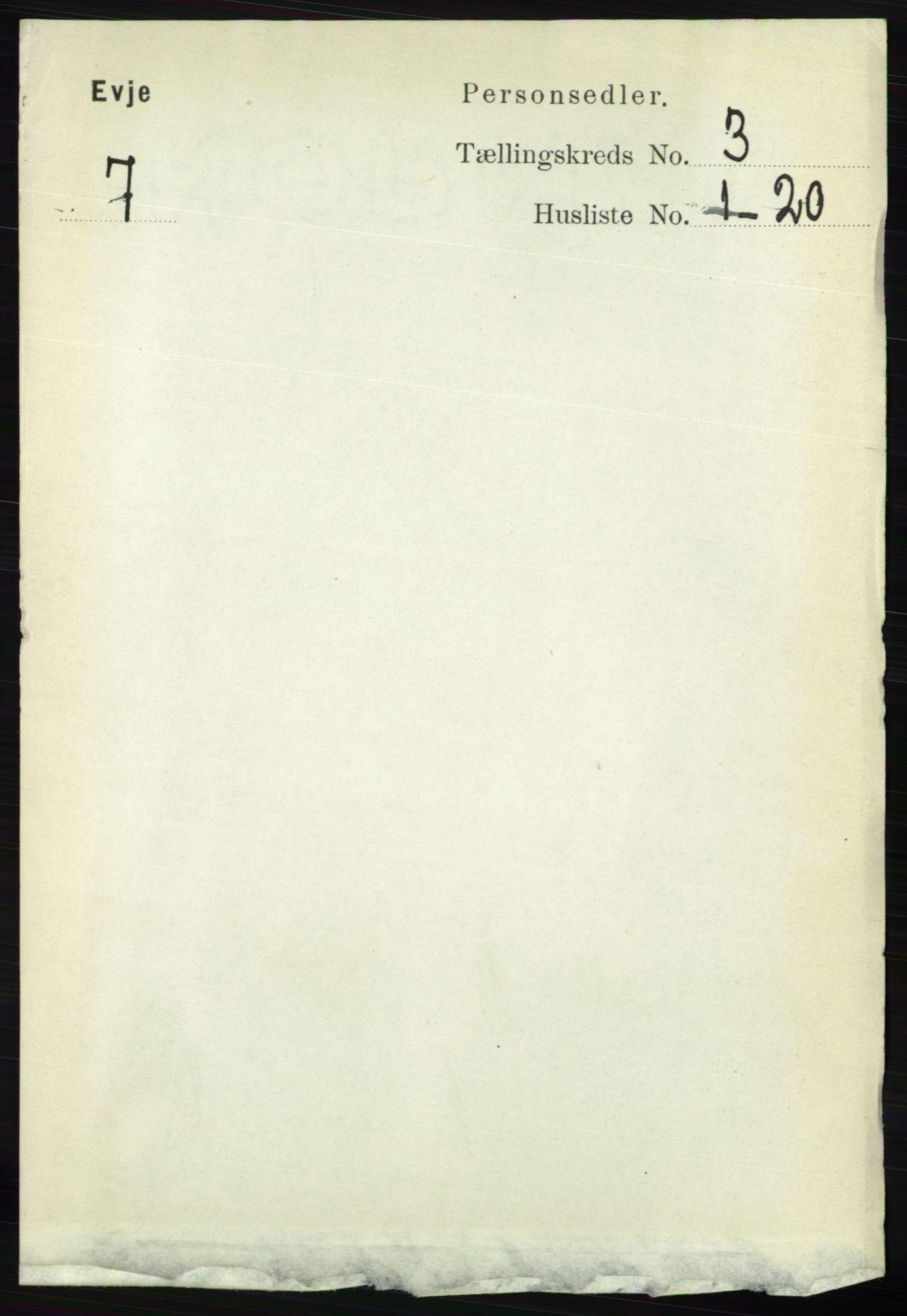 RA, Folketelling 1891 for 0937 Evje herred, 1891, s. 655