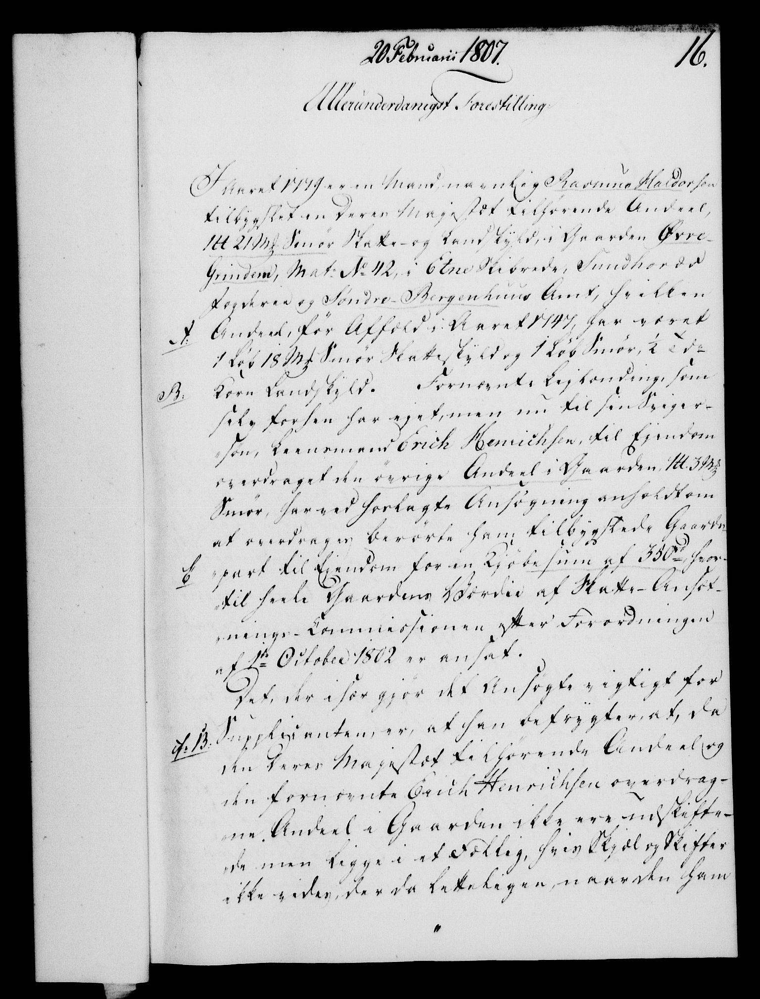 RA, Rentekammeret, Kammerkanselliet, G/Gf/Gfa/L0089: Norsk relasjons- og resolusjonsprotokoll (merket RK 52.89), 1807, s. 131