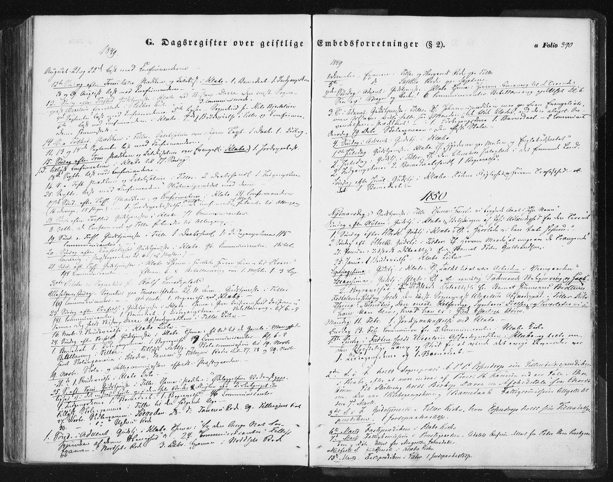 SAT, Ministerialprotokoller, klokkerbøker og fødselsregistre - Sør-Trøndelag, 618/L0441: Ministerialbok nr. 618A05, 1843-1862, s. 390