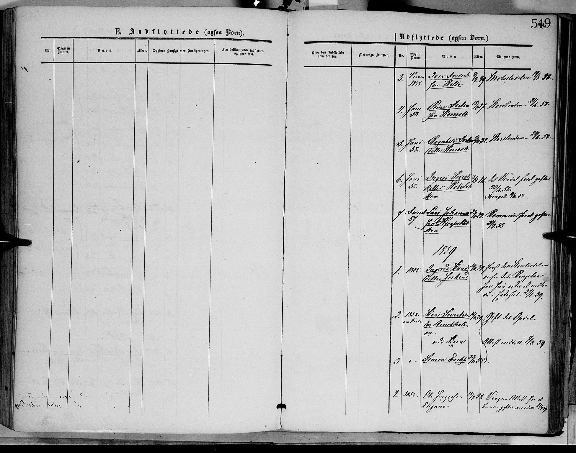 SAH, Dovre prestekontor, Ministerialbok nr. 1, 1854-1878, s. 549