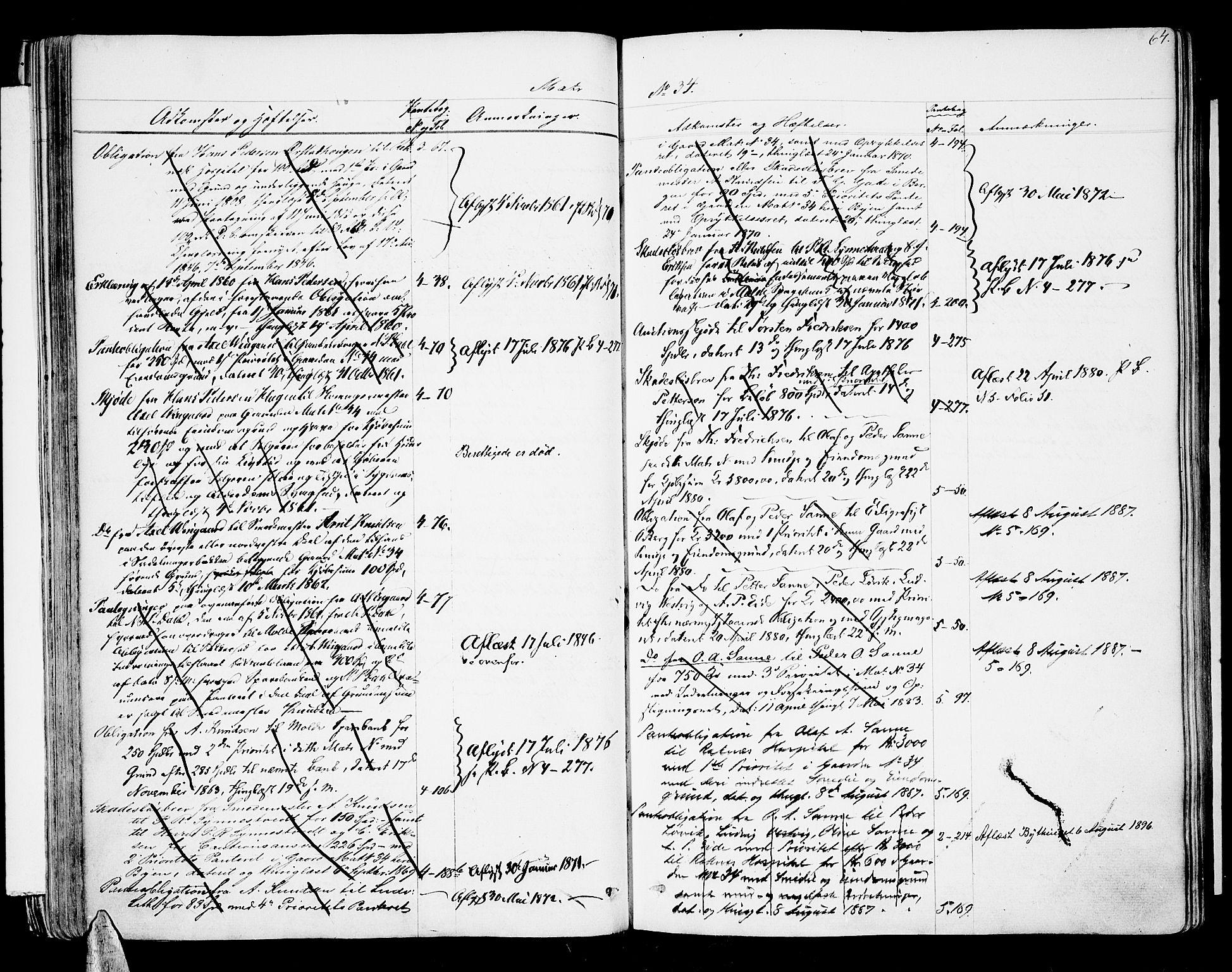 SAT, Molde byfogd, 2/2A/L0005: Panteregister nr. 5, 1823-1835, s. 64