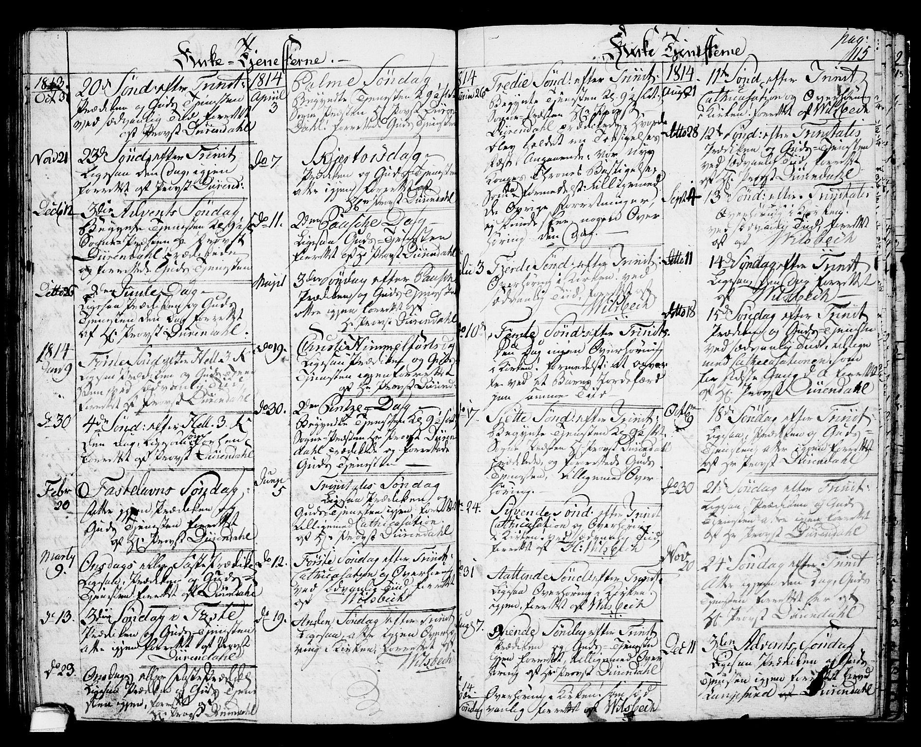 SAKO, Langesund kirkebøker, G/Ga/L0002: Klokkerbok nr. 2, 1801-1815, s. 115