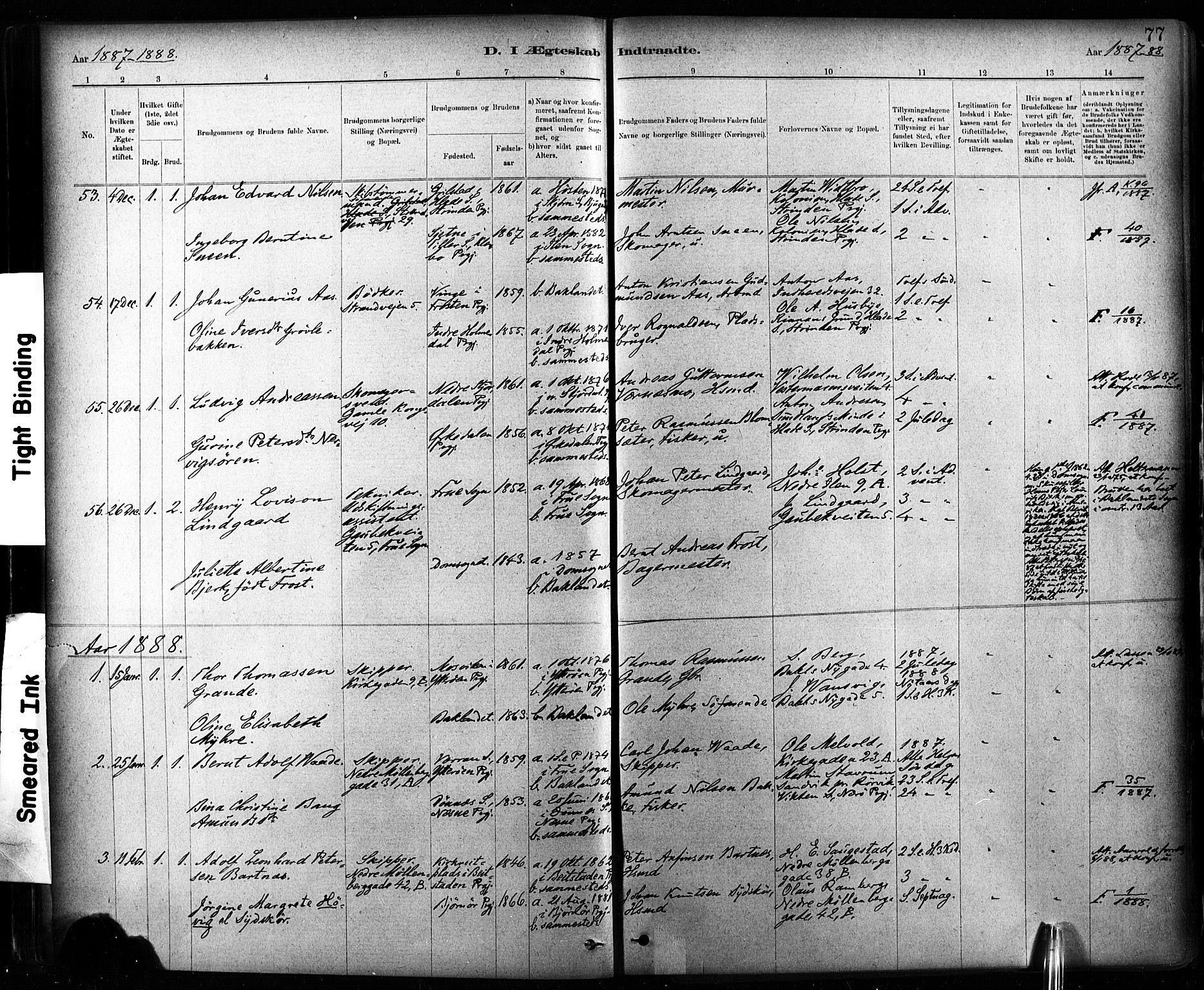 SAT, Ministerialprotokoller, klokkerbøker og fødselsregistre - Sør-Trøndelag, 604/L0189: Ministerialbok nr. 604A10, 1878-1892, s. 77
