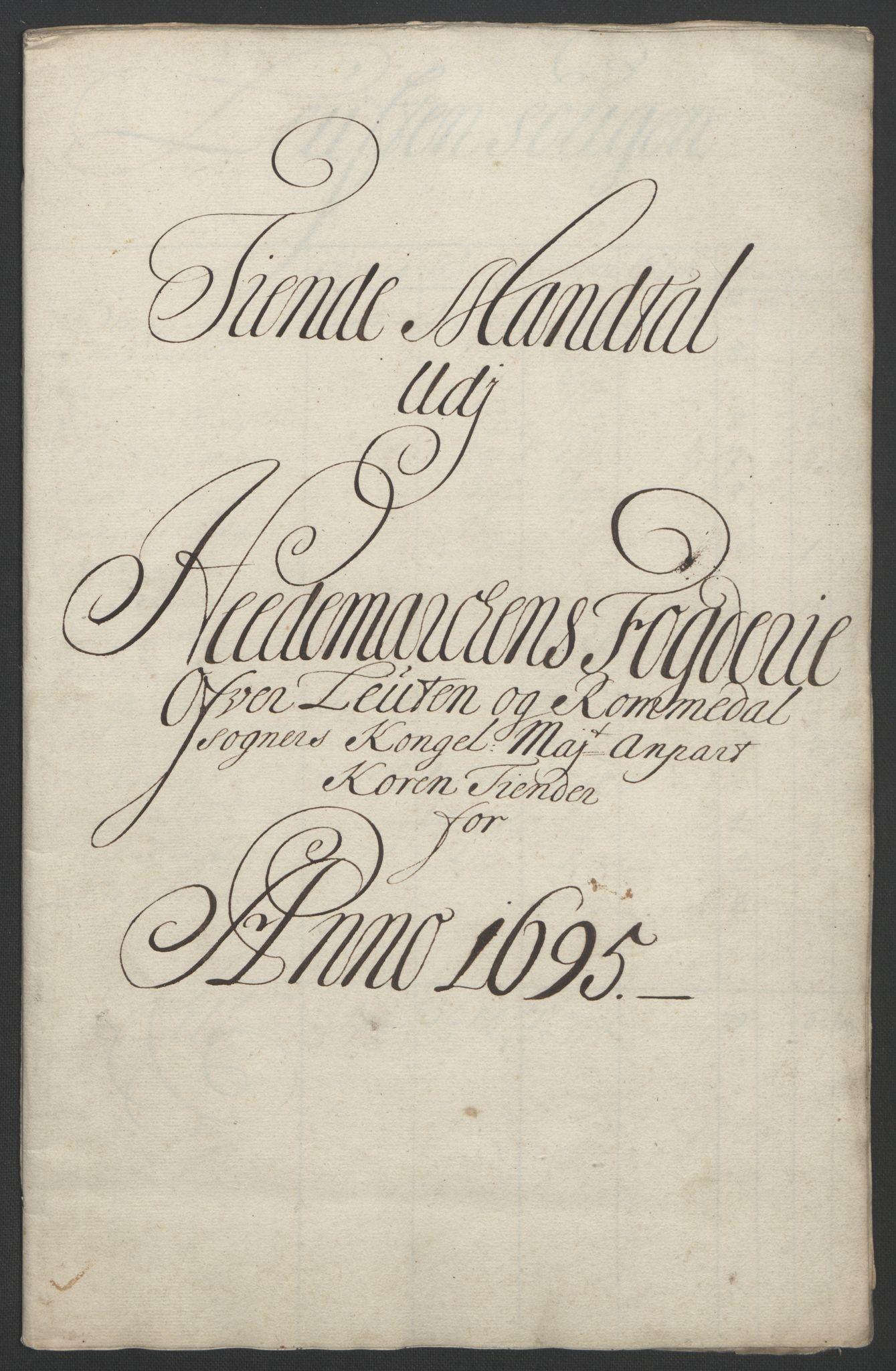 RA, Rentekammeret inntil 1814, Reviderte regnskaper, Fogderegnskap, R16/L1036: Fogderegnskap Hedmark, 1695-1696, s. 47