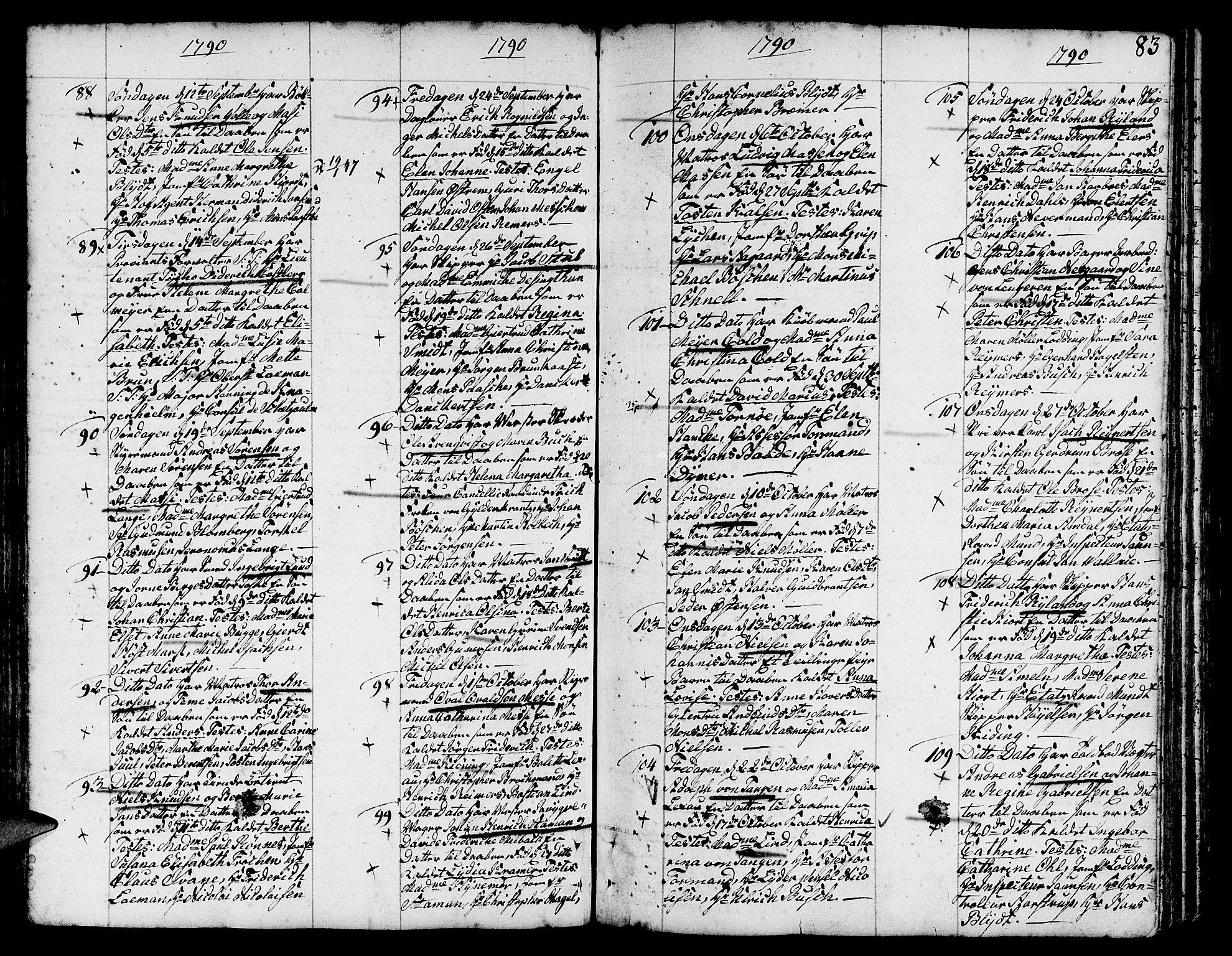 SAB, Nykirken Sokneprestembete, H/Haa: Ministerialbok nr. A 5, 1775-1808, s. 83