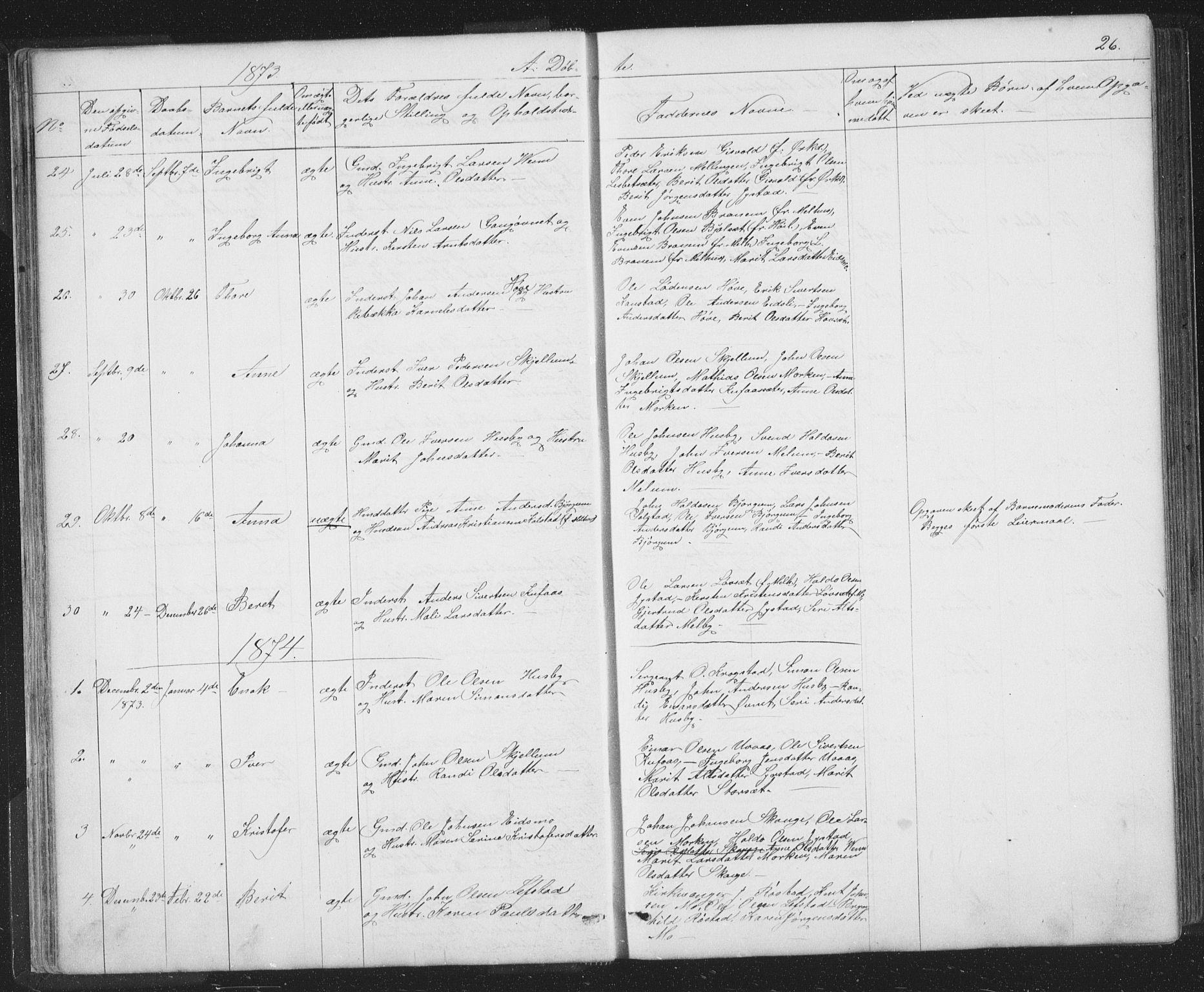 SAT, Ministerialprotokoller, klokkerbøker og fødselsregistre - Sør-Trøndelag, 667/L0798: Klokkerbok nr. 667C03, 1867-1929, s. 26