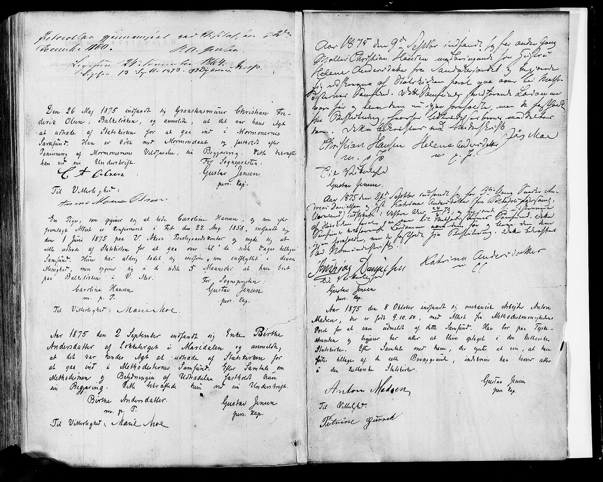 SAO, Vestre Aker prestekontor Kirkebøker, F/Fa/L0005: Ministerialbok nr. 5, 1859-1877