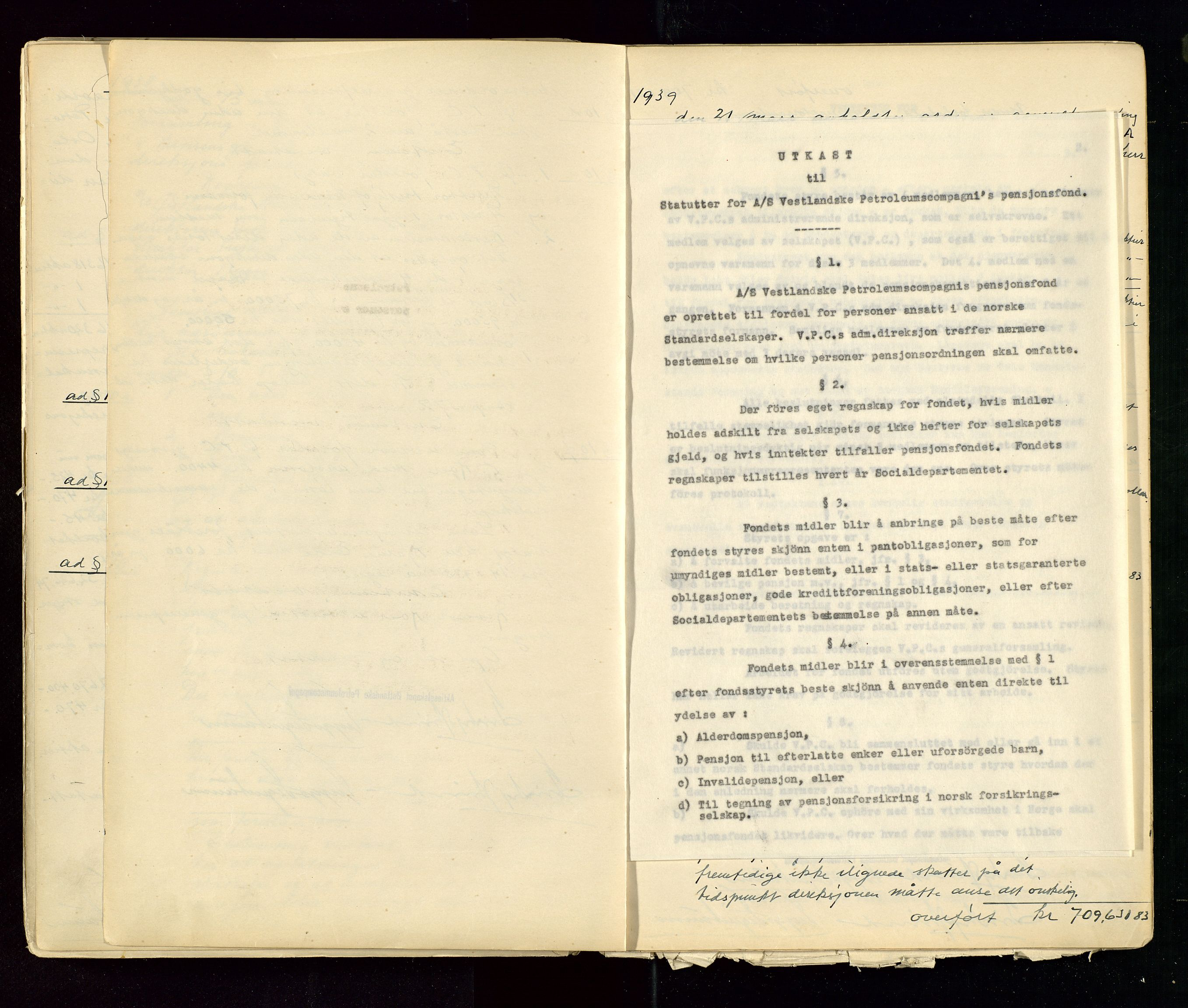 SAST, PA 1533 - A/S Vestlandske Petroleumscompani, A/Aa/L0001: Generalforsamlinger og styreprotokoller, 1890-1953, s. 115