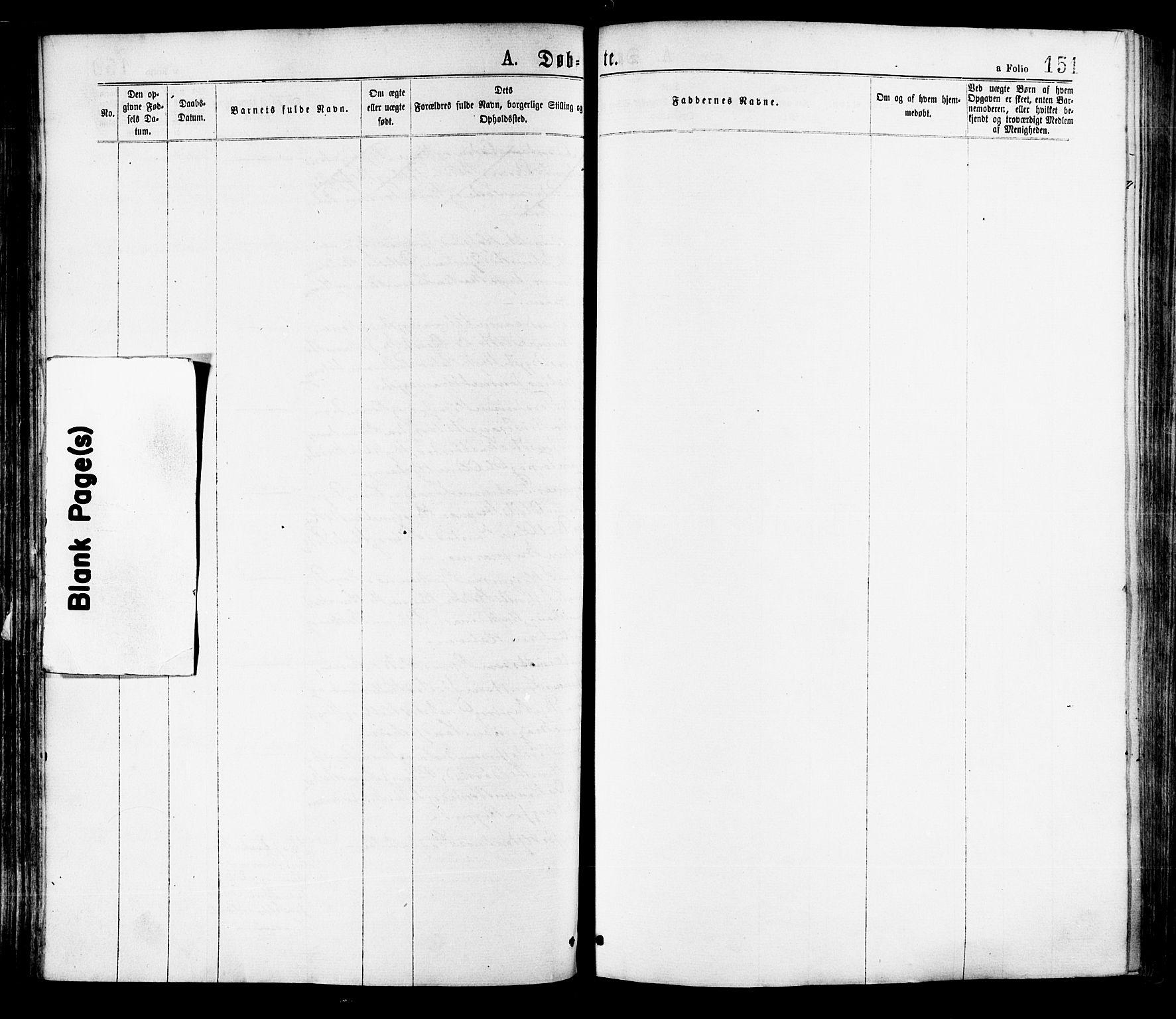 SAT, Ministerialprotokoller, klokkerbøker og fødselsregistre - Nord-Trøndelag, 709/L0076: Ministerialbok nr. 709A16, 1871-1879, s. 151