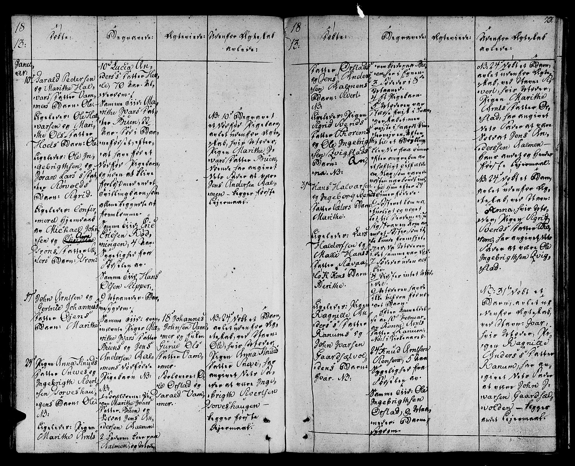 SAT, Ministerialprotokoller, klokkerbøker og fødselsregistre - Sør-Trøndelag, 678/L0894: Ministerialbok nr. 678A04, 1806-1815, s. 73