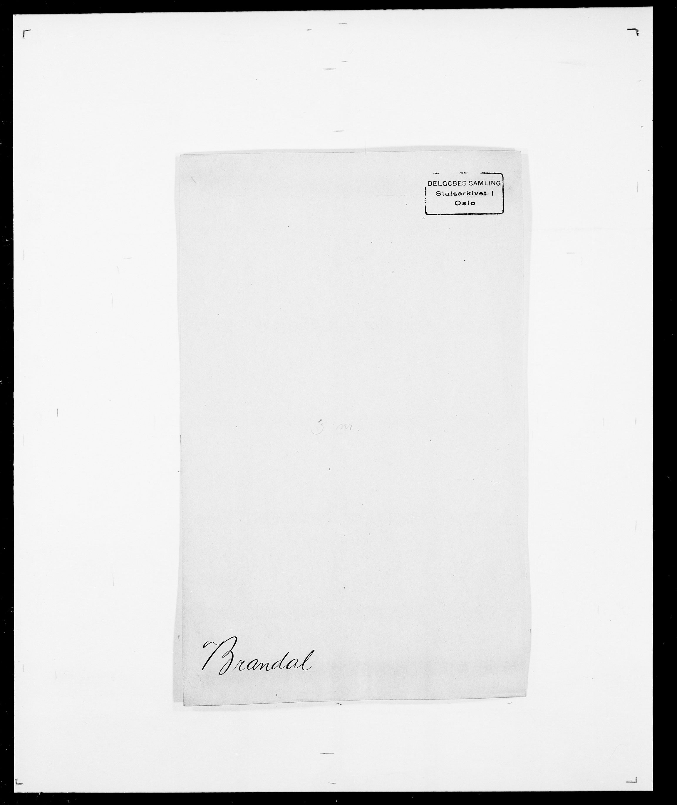 SAO, Delgobe, Charles Antoine - samling, D/Da/L0006: Brambani - Brønø, s. 7