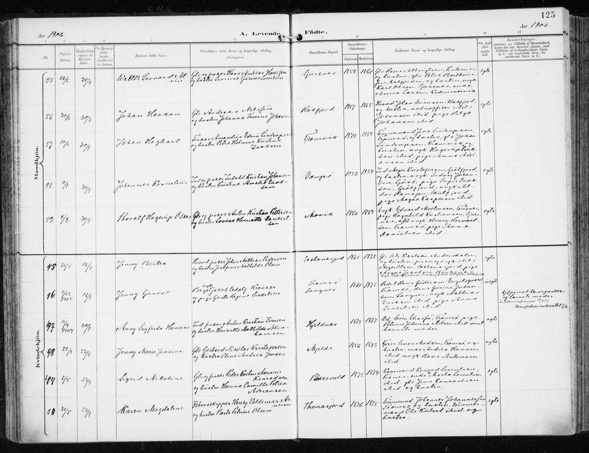 SATØ, Tromsøysund sokneprestkontor, G/Ga/L0006kirke: Ministerialbok nr. 6, 1897-1906, s. 125