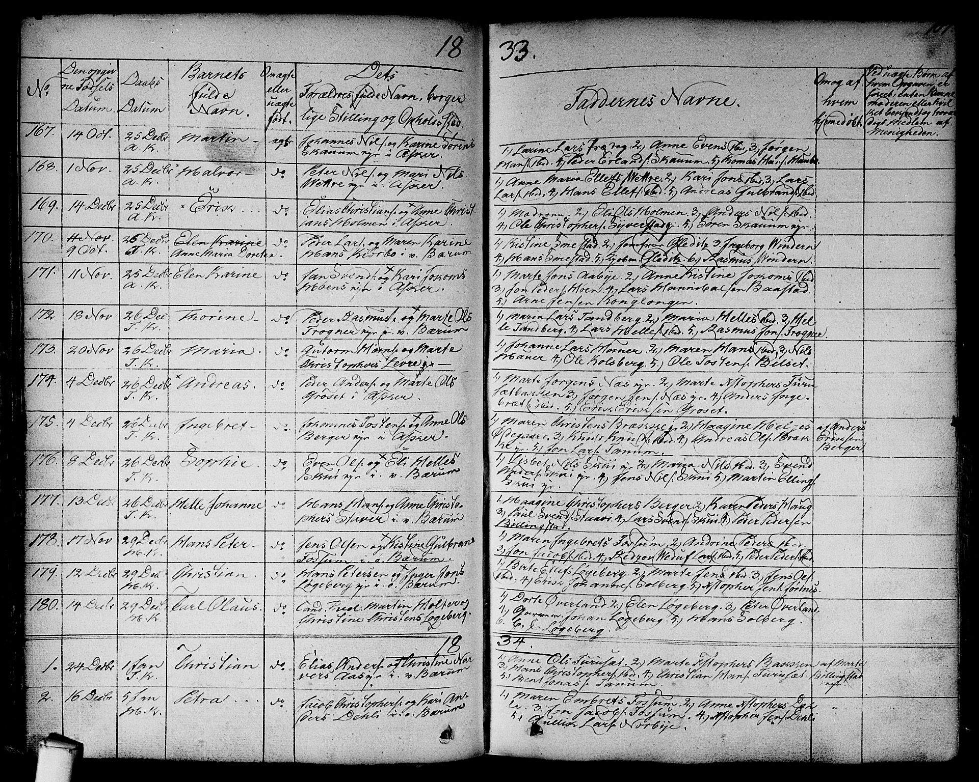 SAO, Asker prestekontor Kirkebøker, F/Fa/L0007: Ministerialbok nr. I 7, 1825-1864, s. 107