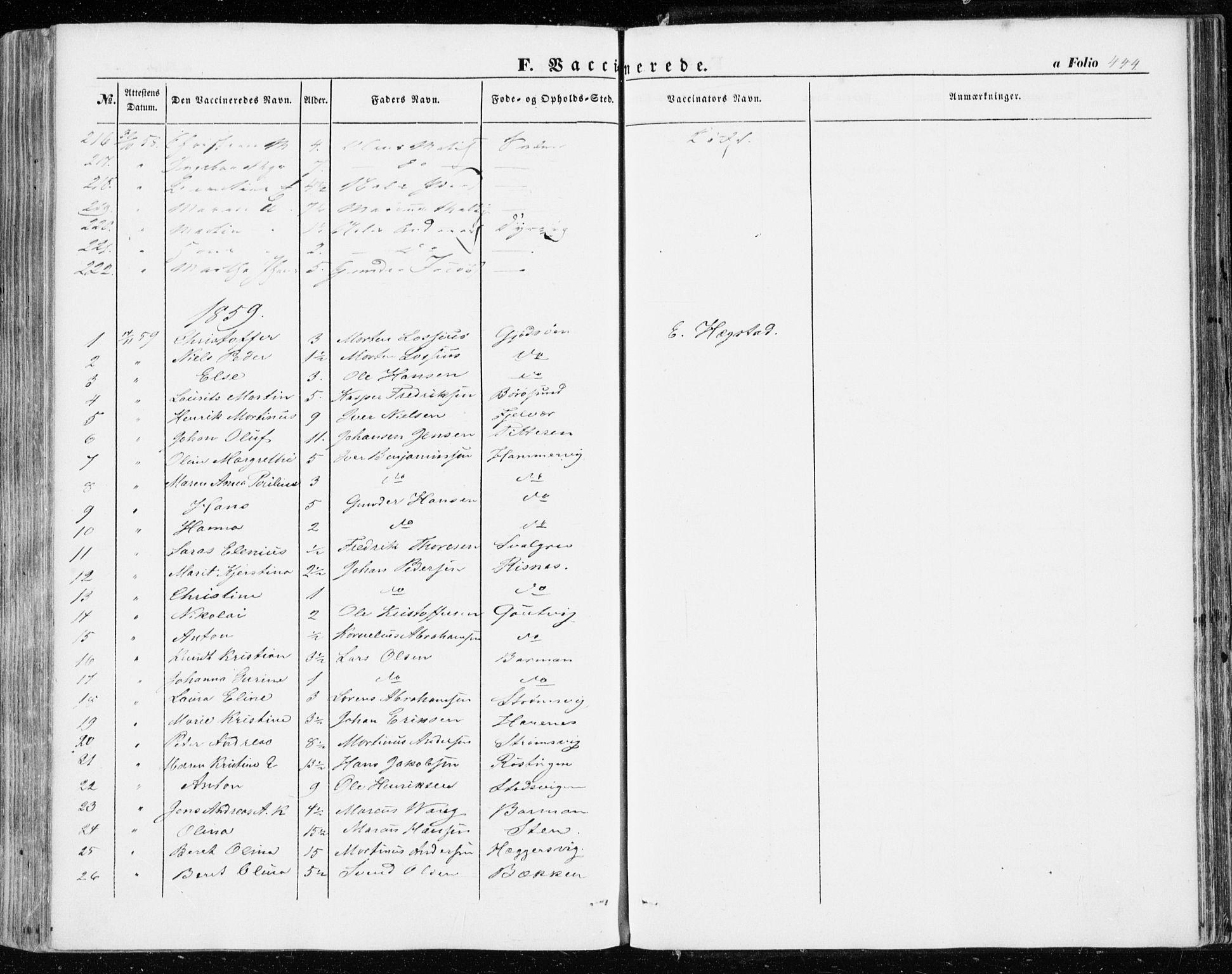 SAT, Ministerialprotokoller, klokkerbøker og fødselsregistre - Sør-Trøndelag, 634/L0530: Ministerialbok nr. 634A06, 1852-1860, s. 444