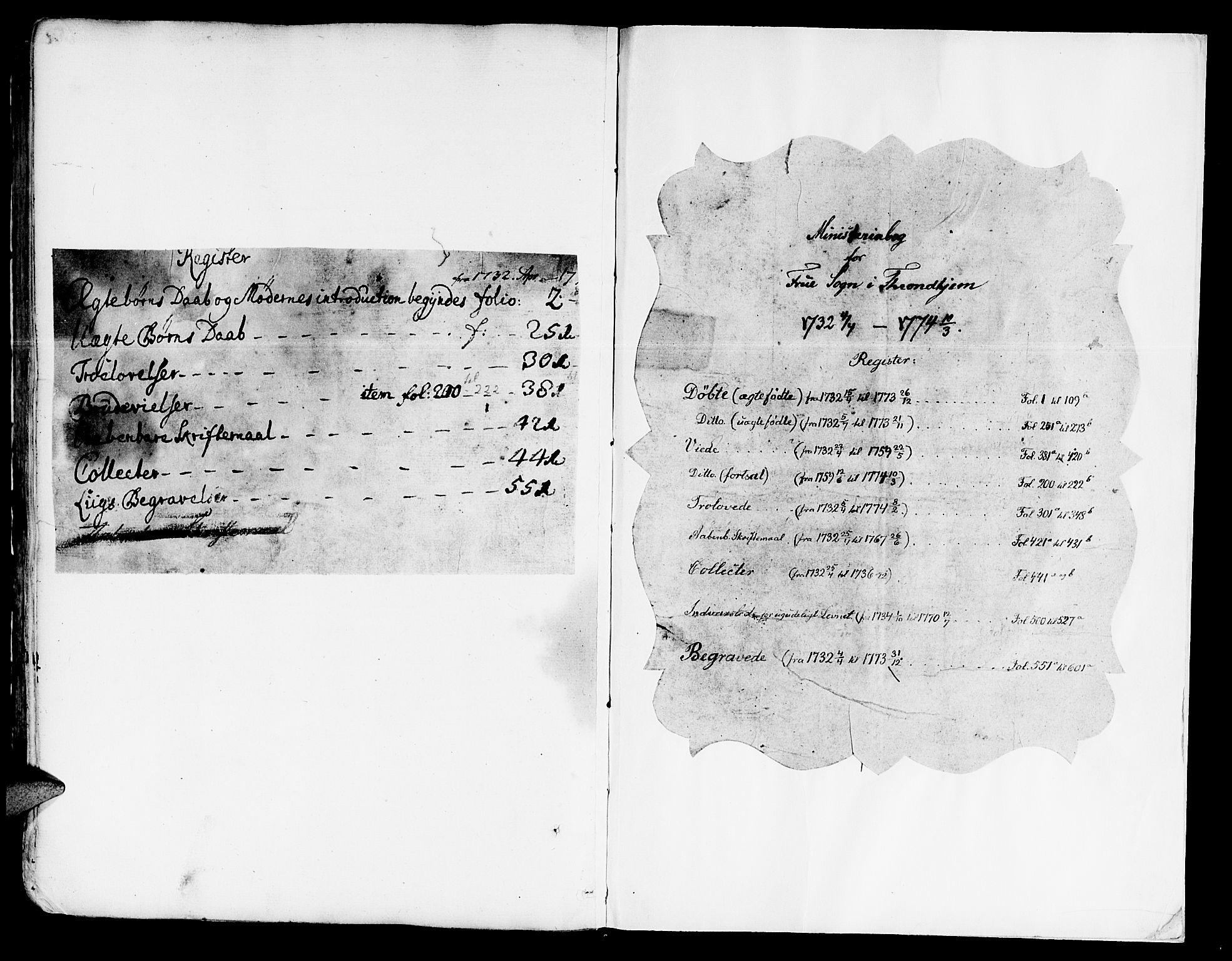 SAT, Ministerialprotokoller, klokkerbøker og fødselsregistre - Sør-Trøndelag, 602/L0103: Ministerialbok nr. 602A01, 1732-1774
