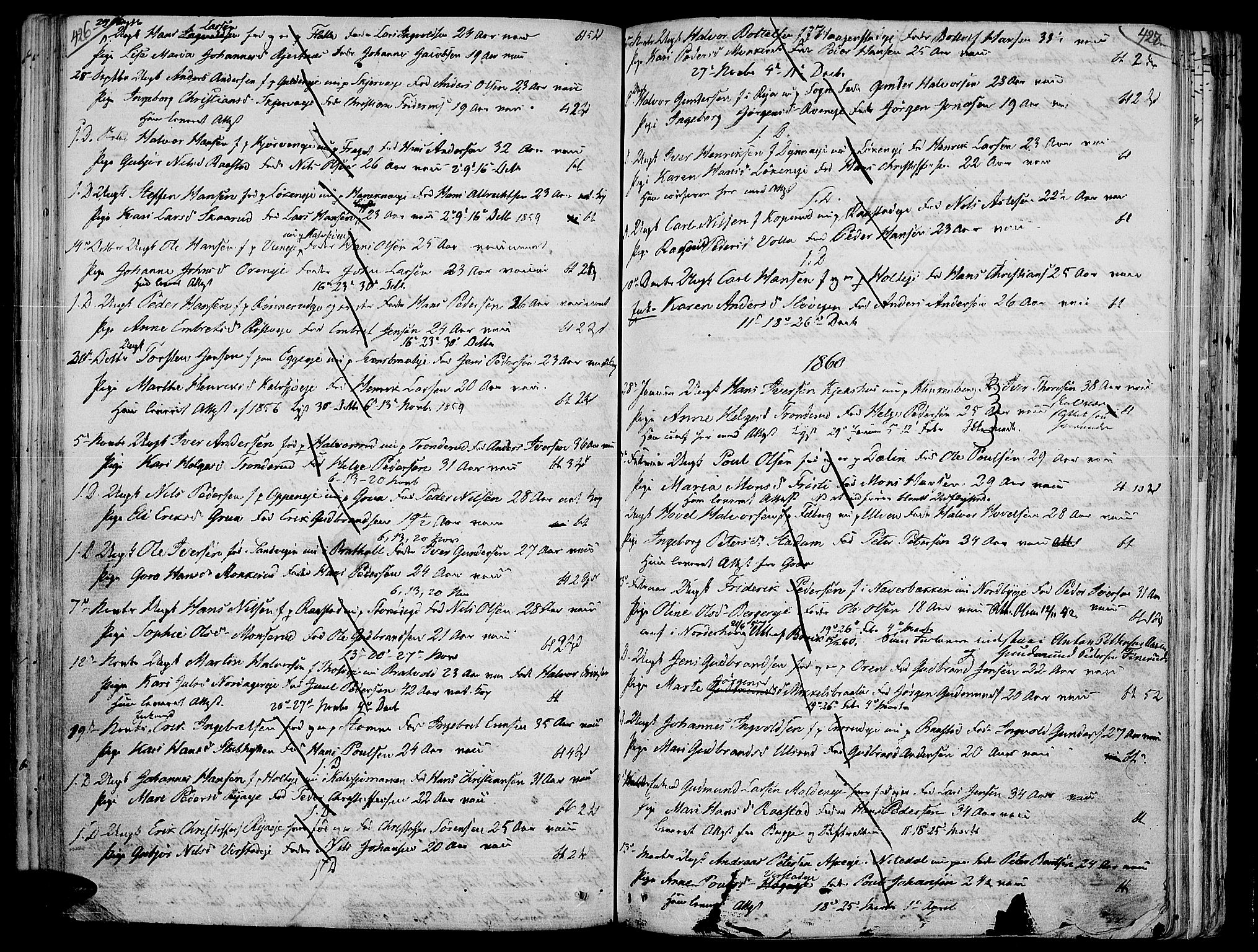 SAH, Jevnaker prestekontor, Ministerialbok nr. 4, 1800-1861, s. 426-427