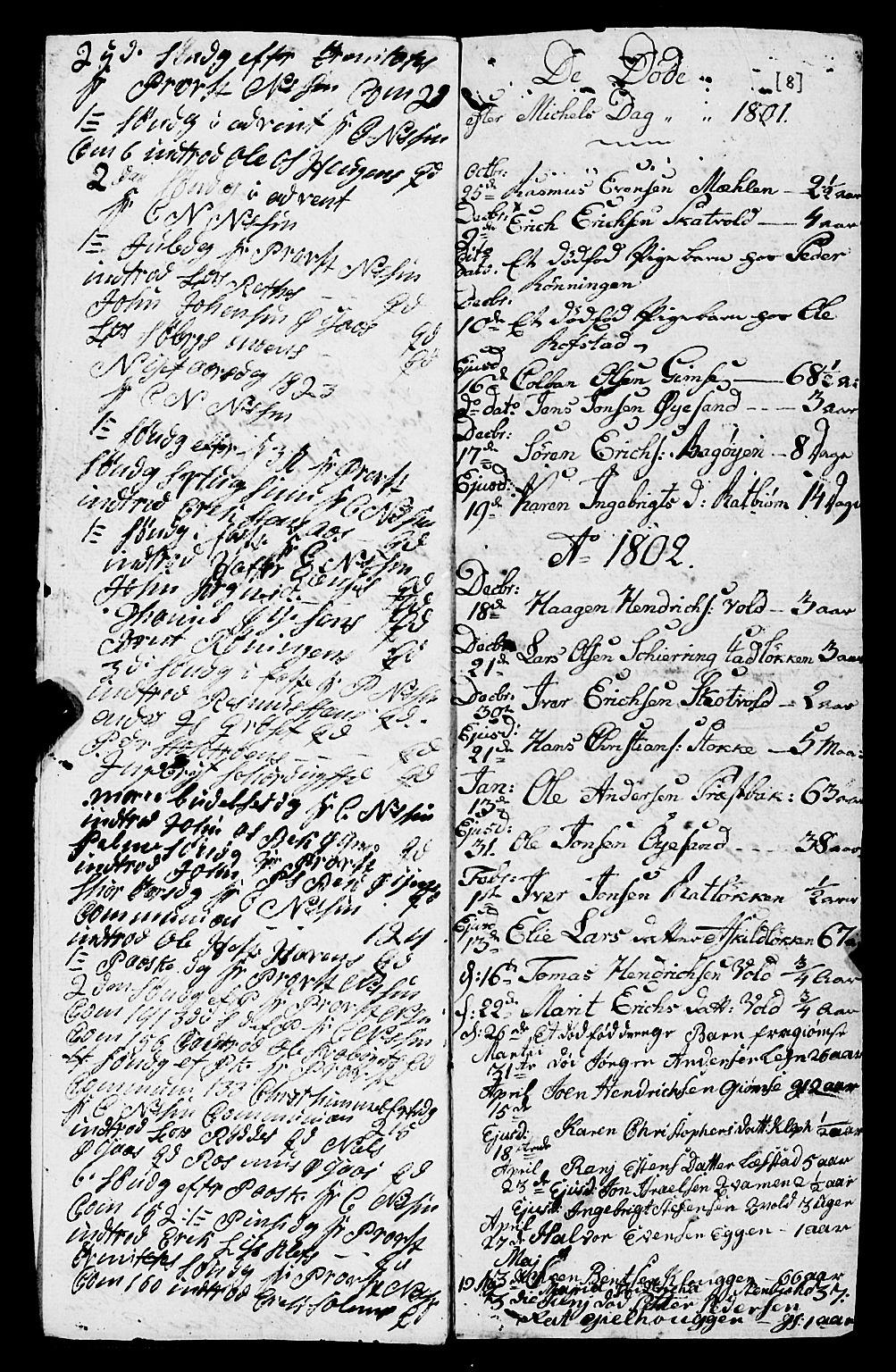 SAT, Ministerialprotokoller, klokkerbøker og fødselsregistre - Sør-Trøndelag, 691/L1091: Klokkerbok nr. 691C02, 1802-1815, s. 8