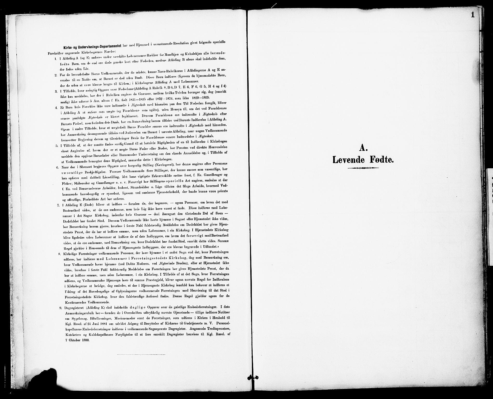 SAT, Ministerialprotokoller, klokkerbøker og fødselsregistre - Sør-Trøndelag, 681/L0935: Ministerialbok nr. 681A13, 1890-1898, s. 1