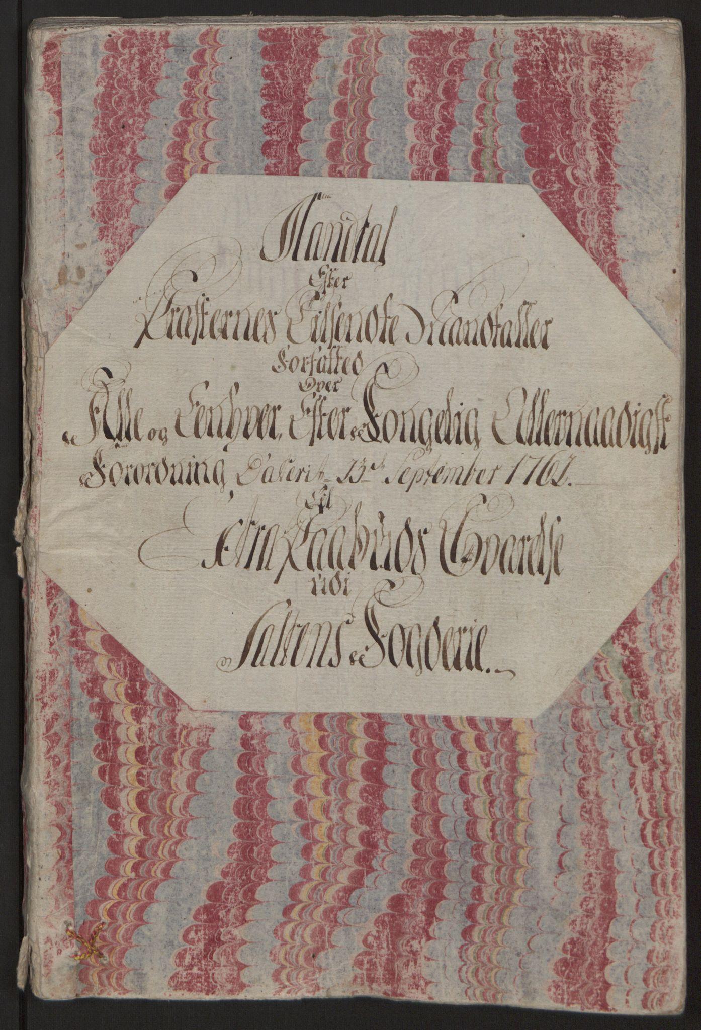 RA, Rentekammeret inntil 1814, Reviderte regnskaper, Fogderegnskap, R66/L4670: Ekstraskatten Salten, 1762-1764, s. 10