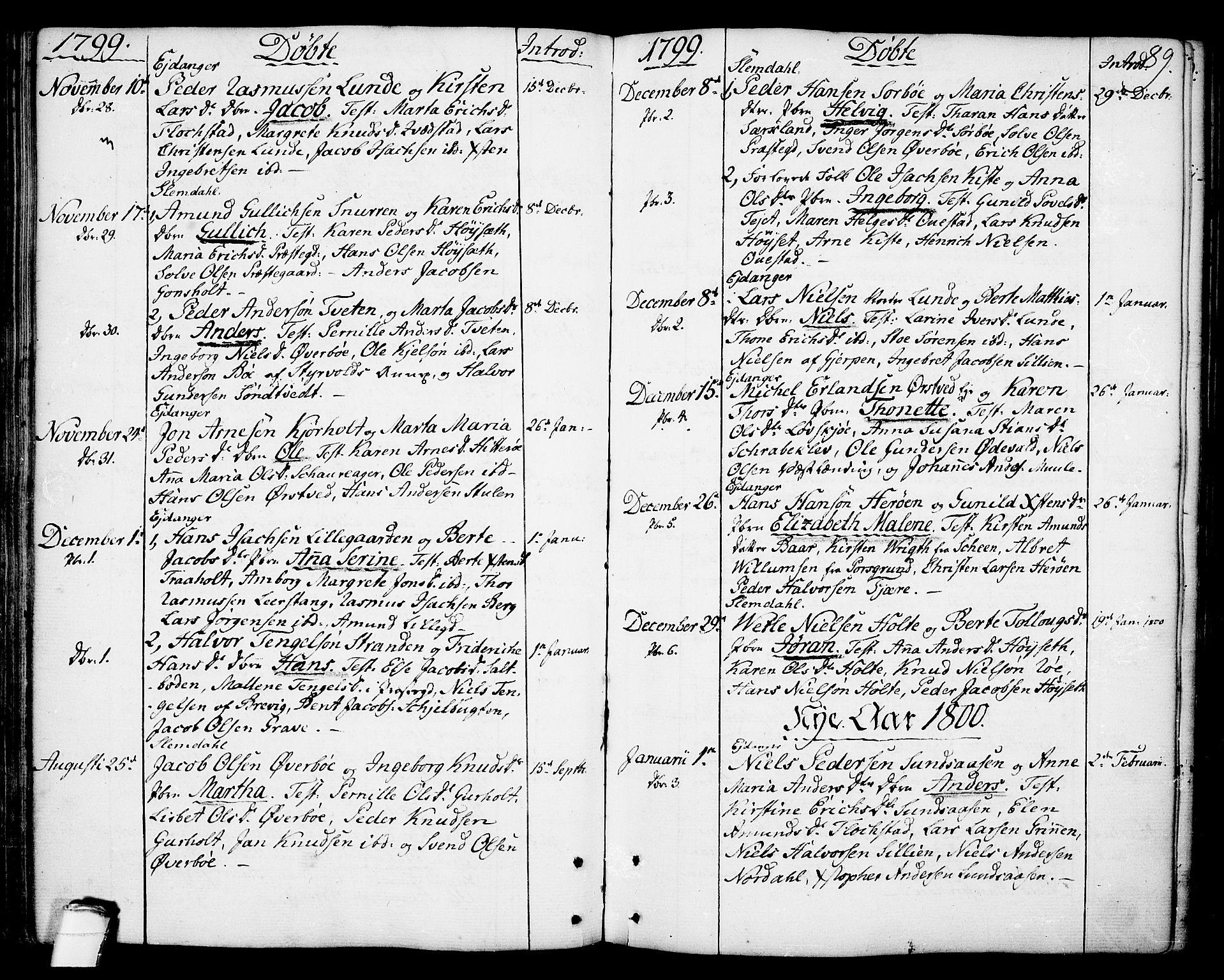 SAKO, Eidanger kirkebøker, F/Fa/L0006: Ministerialbok nr. 6, 1764-1814, s. 89