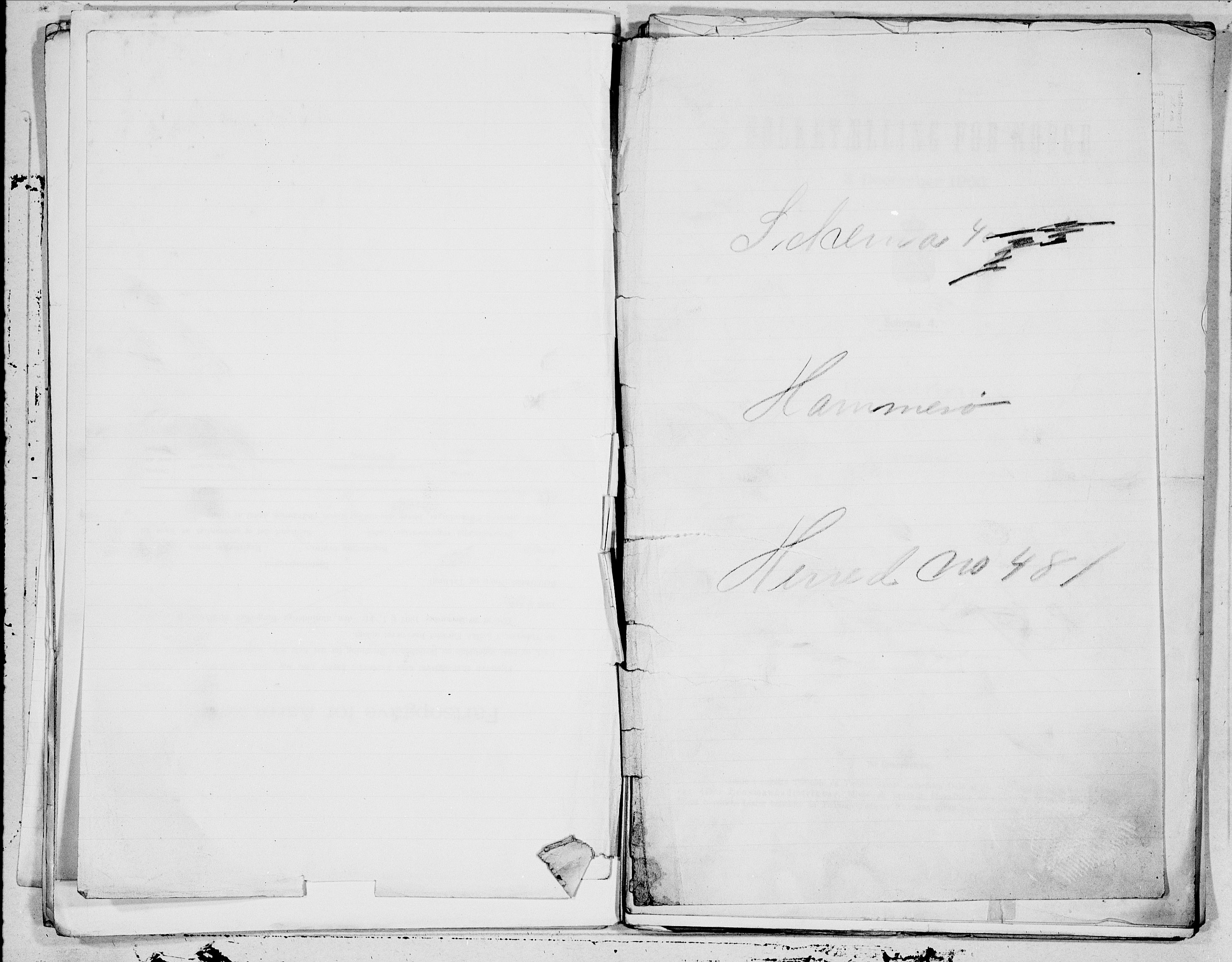 SAT, Folketelling 1900 for 1849 Hamarøy herred, 1900, s. 1