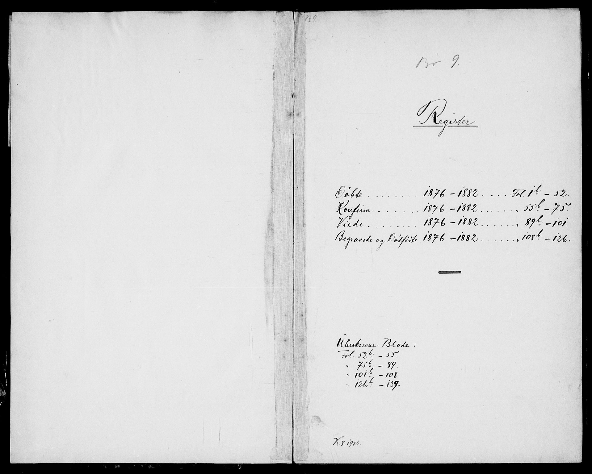 SAKO, Bø kirkebøker, G/Ga/L0004: Klokkerbok nr. 4, 1876-1882