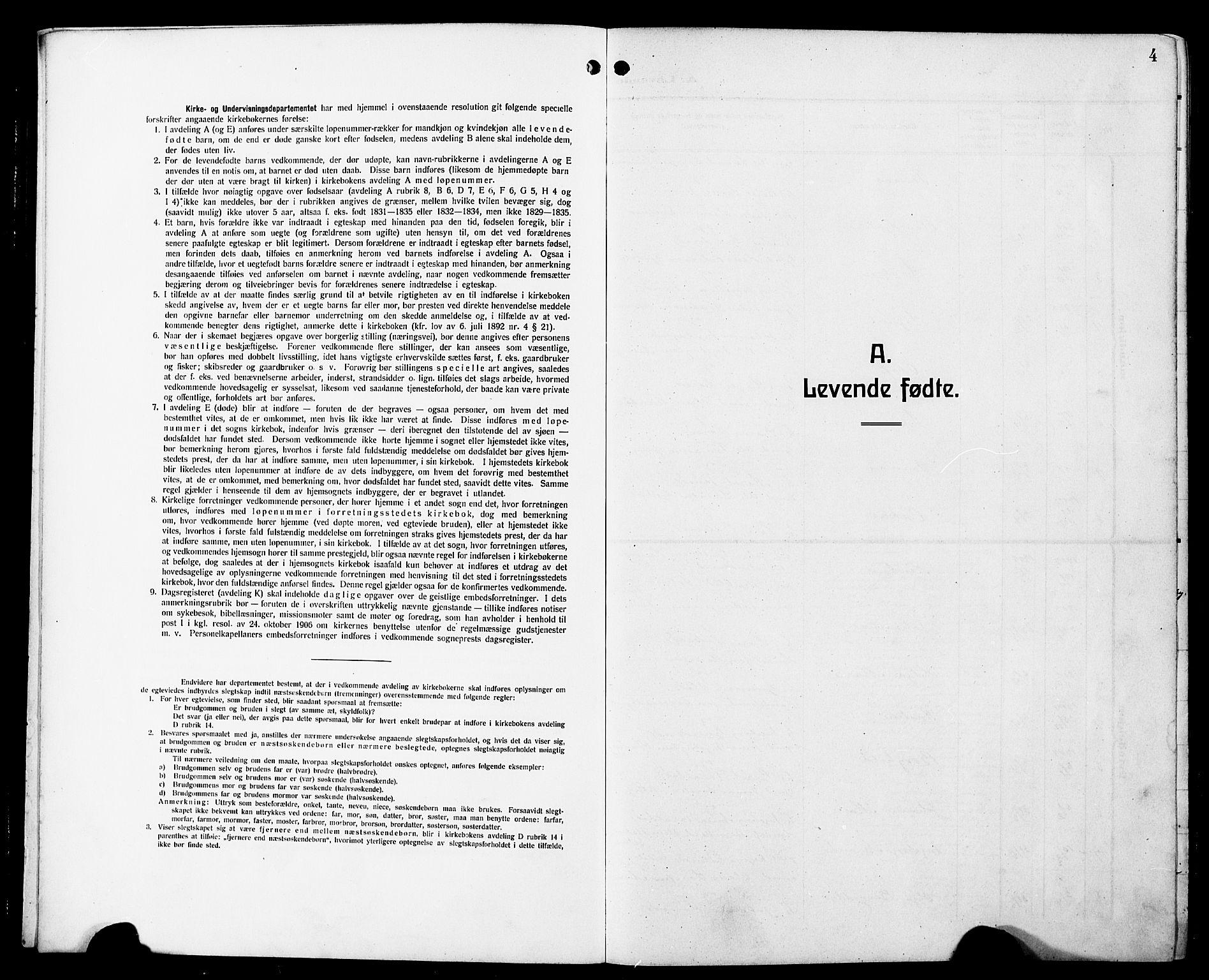 SAT, Ministerialprotokoller, klokkerbøker og fødselsregistre - Sør-Trøndelag, 698/L1168: Klokkerbok nr. 698C05, 1908-1930, s. 4