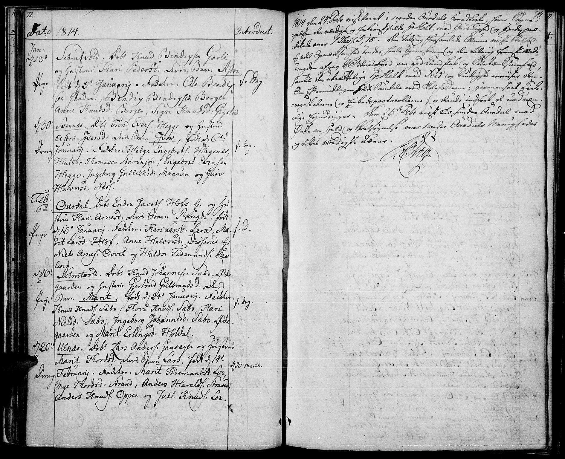 SAH, Nord-Aurdal prestekontor, Ministerialbok nr. 1, 1808-1815, s. 72-73