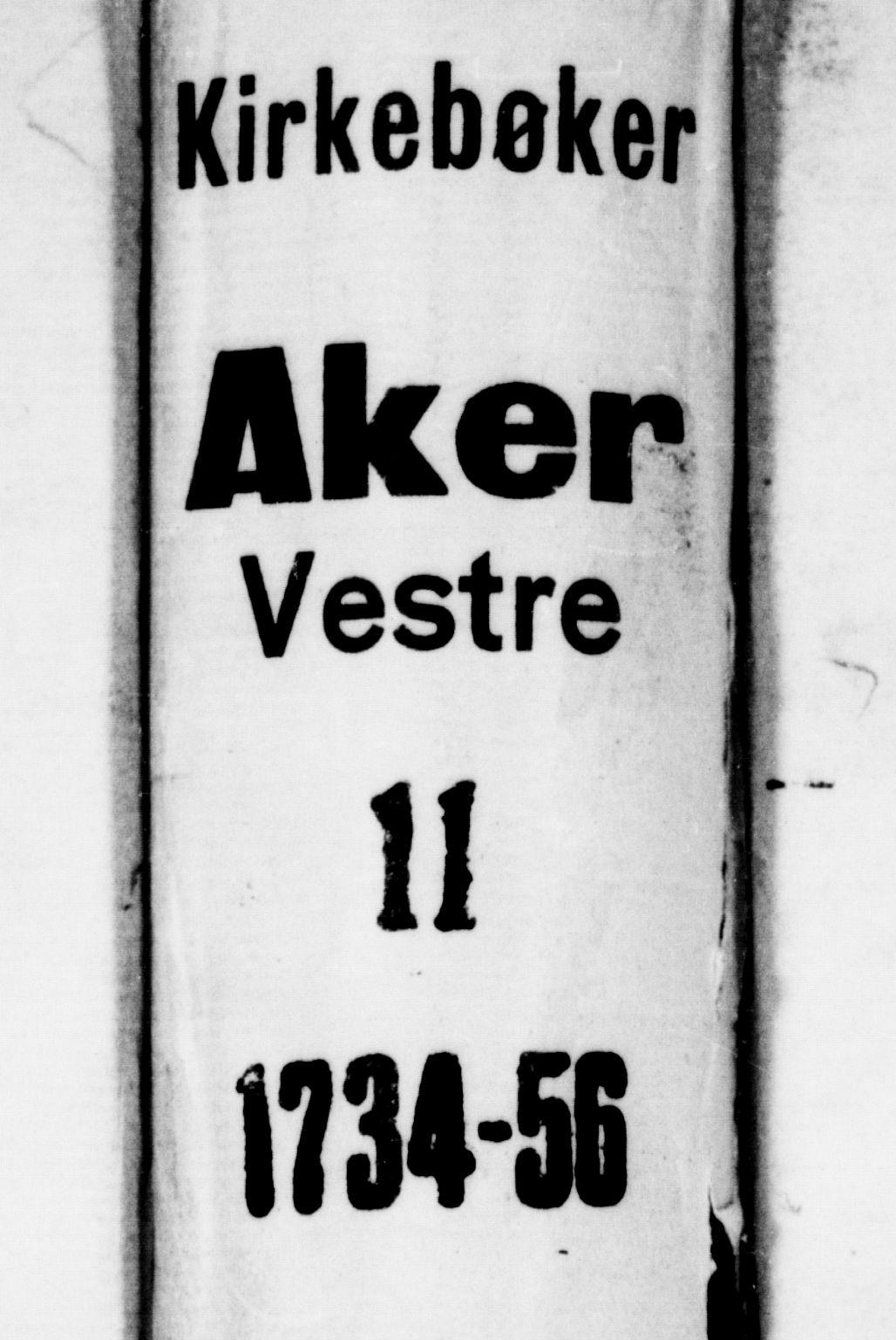 SAO, Garnisonsmenigheten Kirkebøker, F/Fa/L0001: Ministerialbok nr. 1, 1734-1756